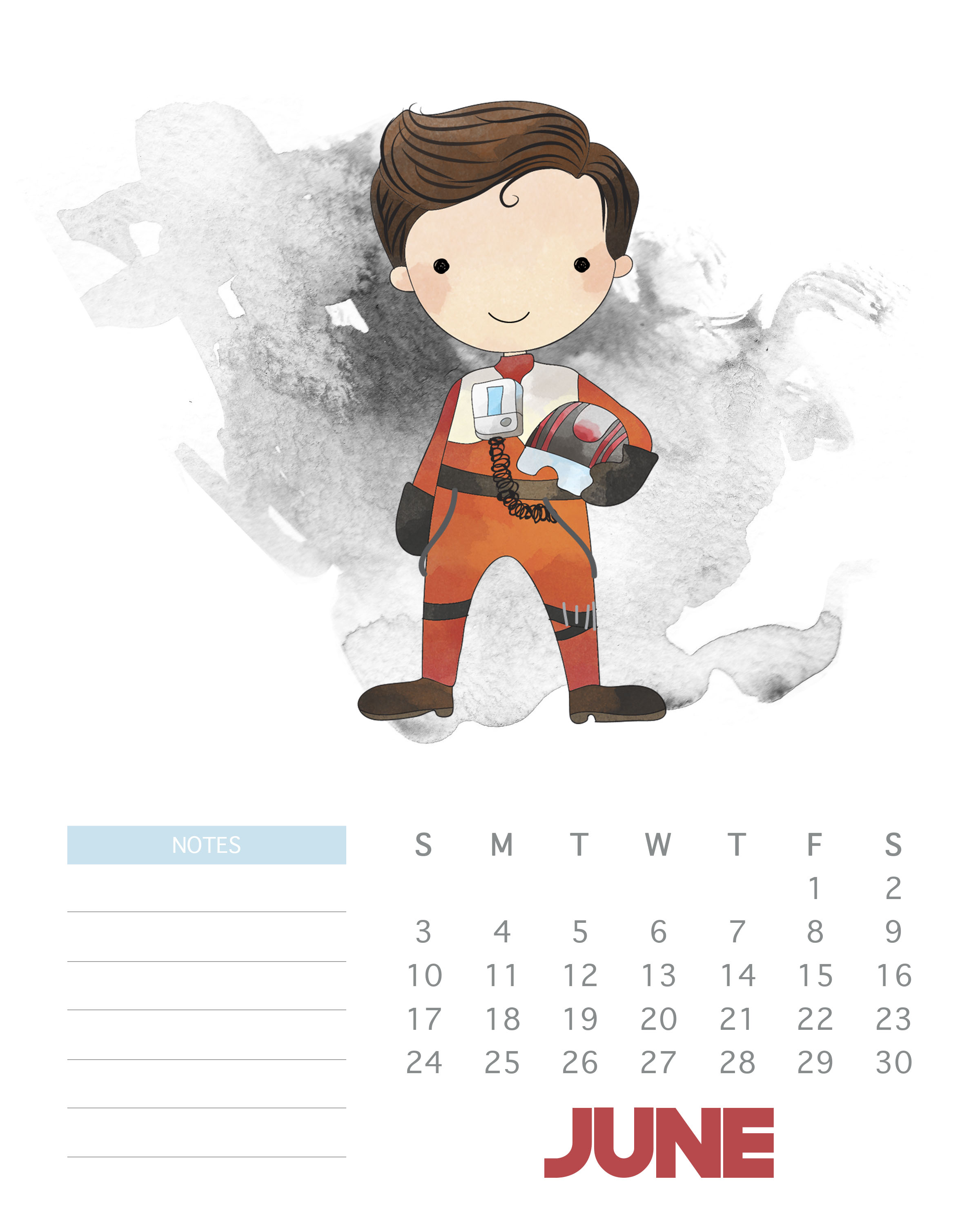 2018 Star Wars Monthly Calendar | Max Calendars pertaining to Star Wars Calendar Printable