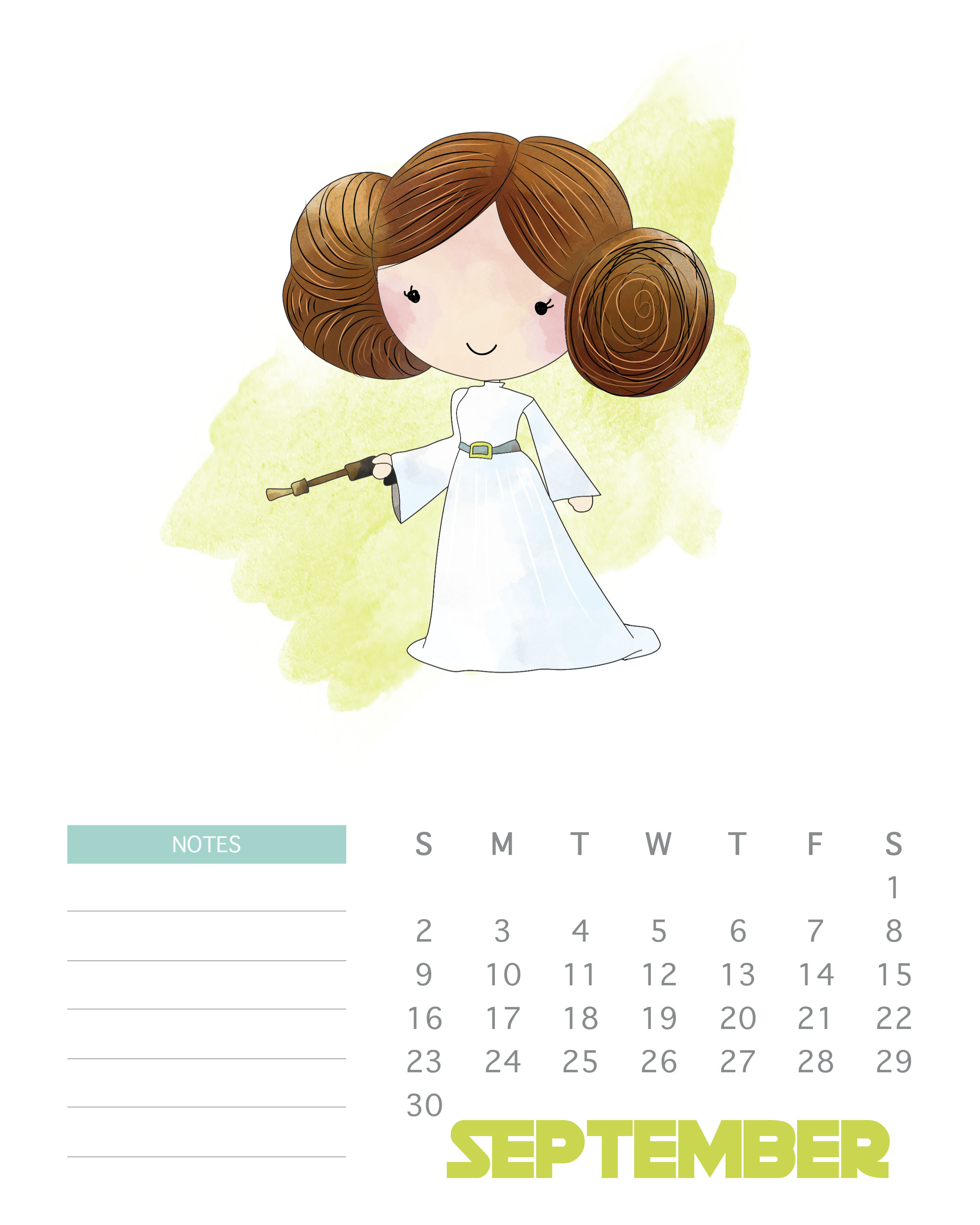 2018 Star Wars Monthly Calendar | Max Calendars with Star Wars Calendar Printable