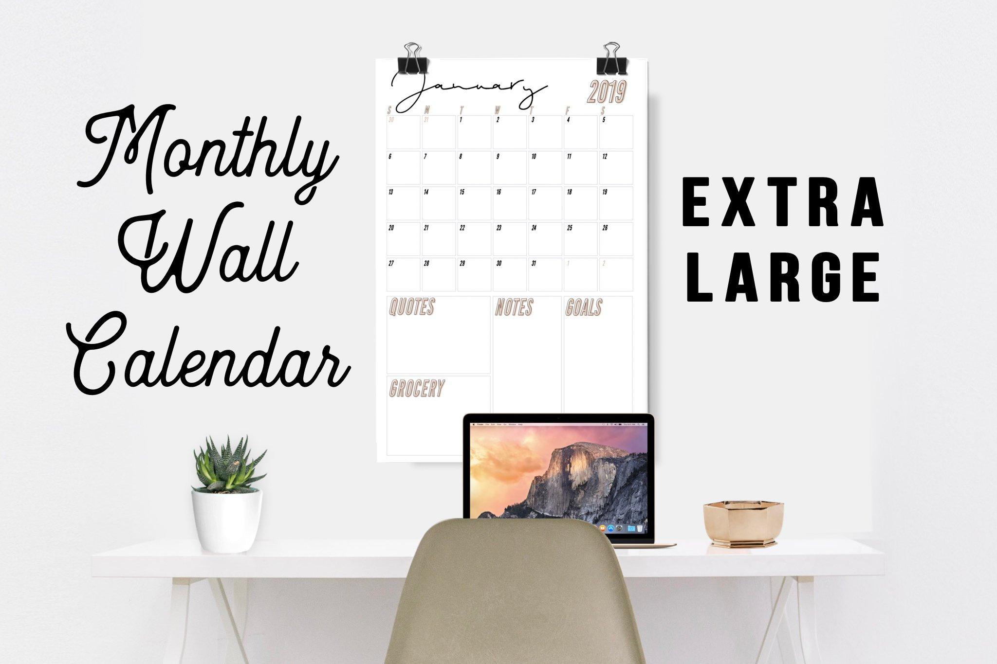 20182019 Extra Large Wall Calendar Printable with regard to Extra Large Photo Calendar
