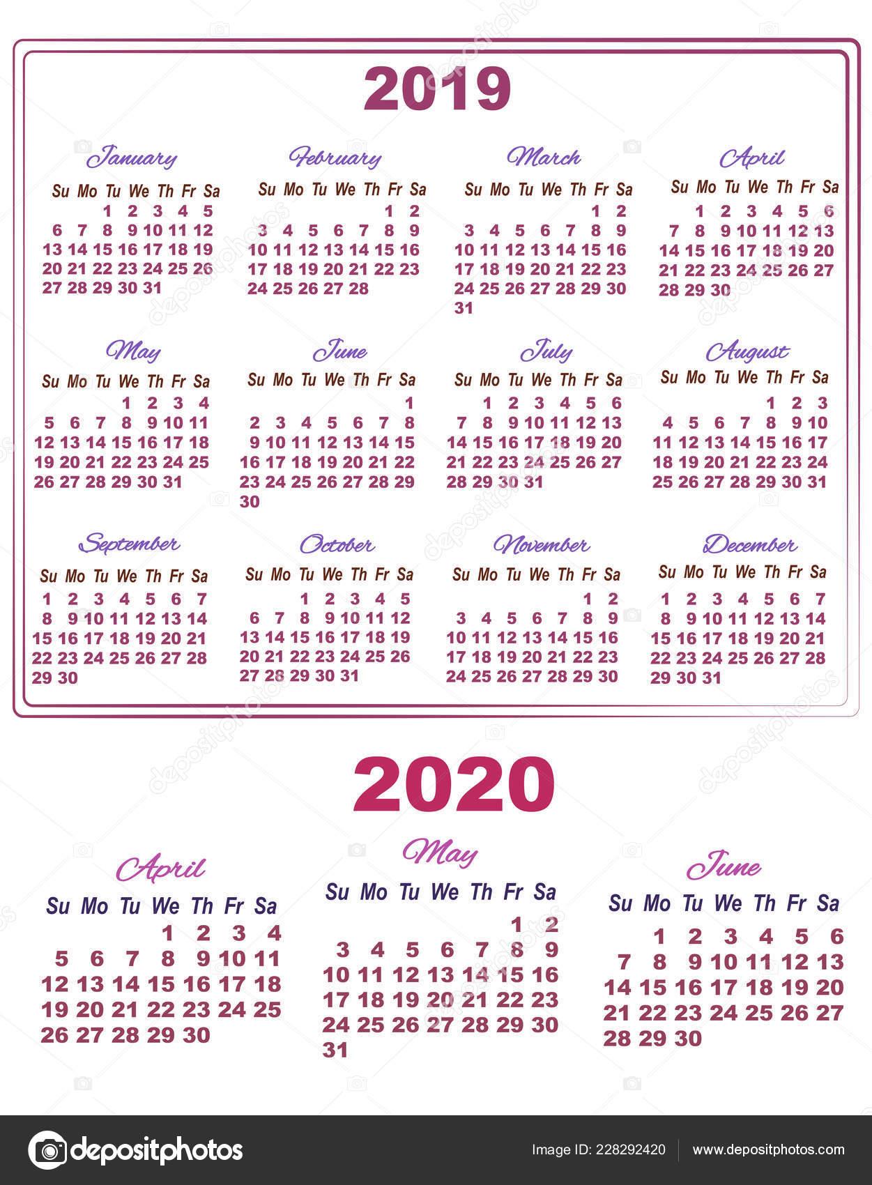 2019 Календарь С Апреля Мая И Июне 2020 — Векторное within Maya Calendar 2020