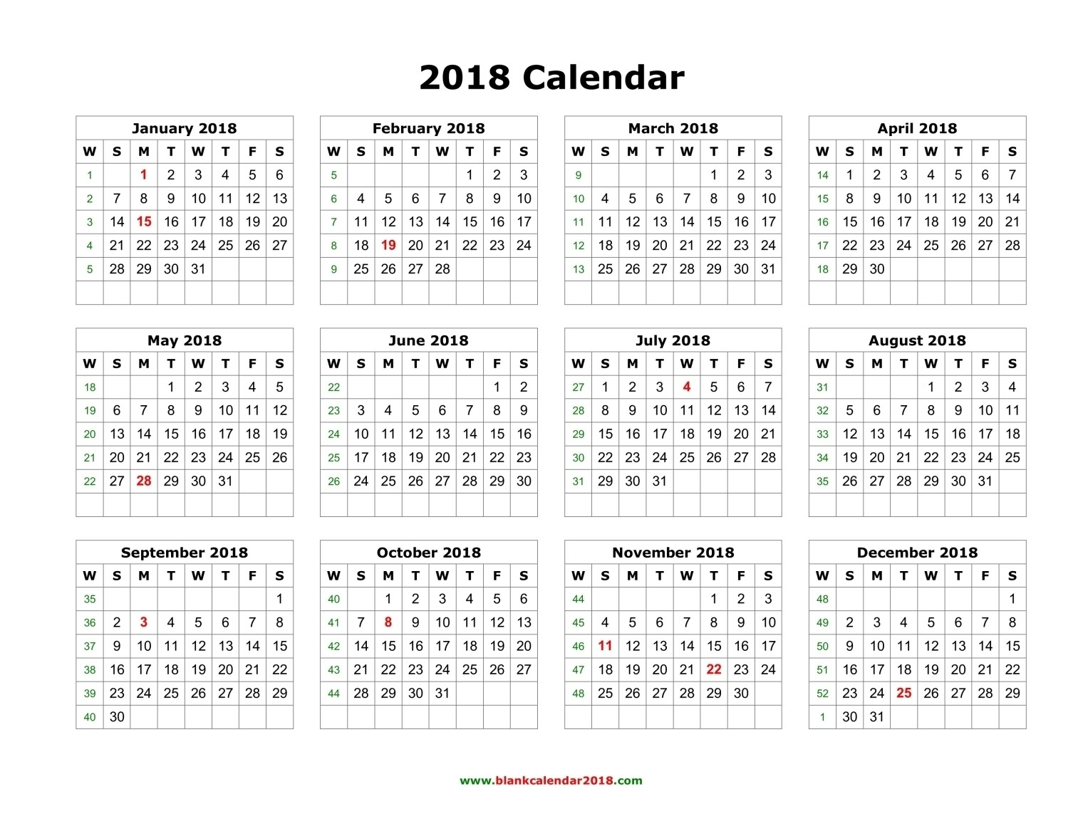 2019 December Calendar With Holidays | Example Calendar with Year Long Calendar Printable