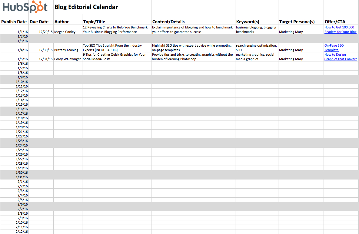 2019 Editorial Calendar Templates in Time And Action Calendar Template