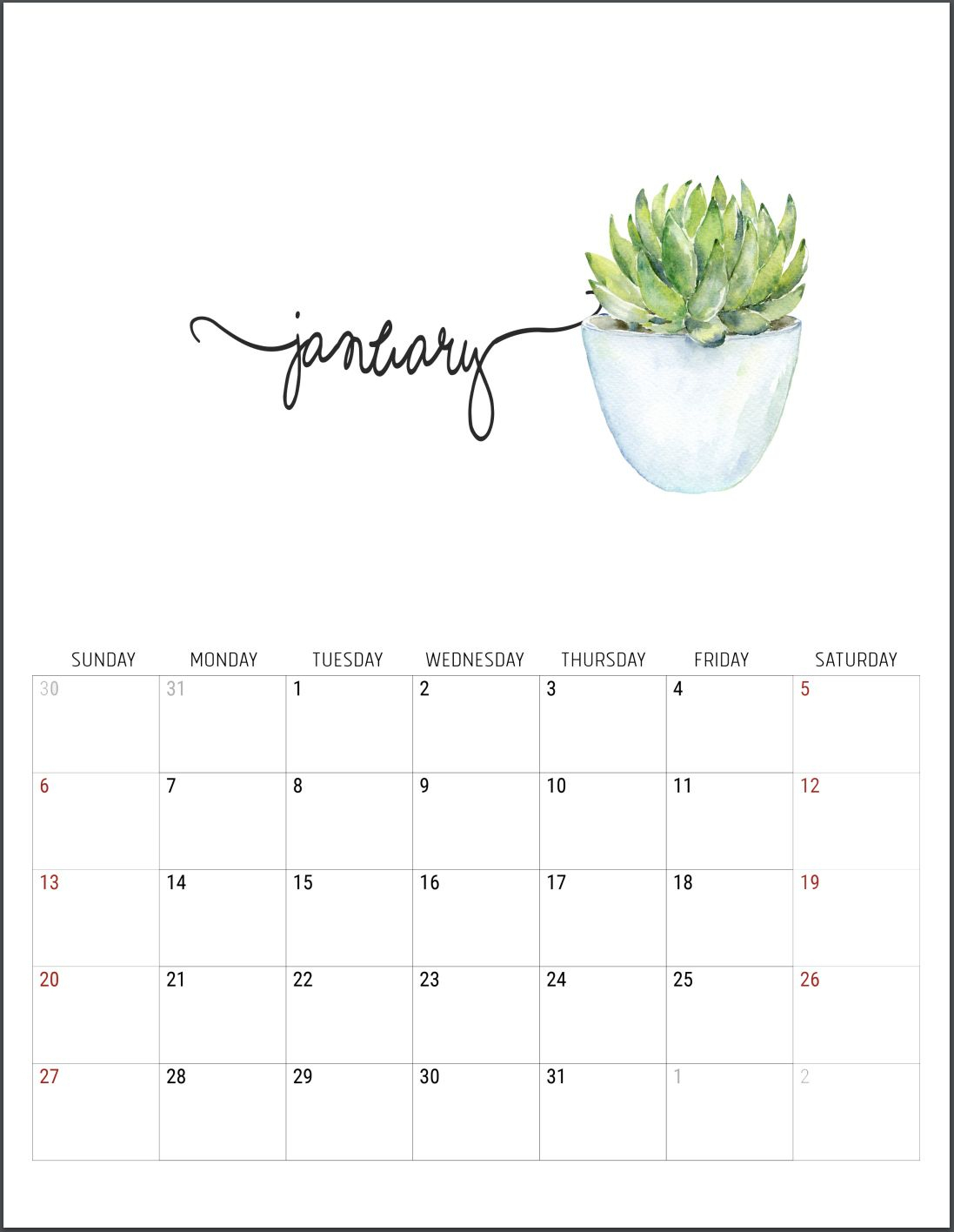 2019 Free Printable Calendars | D E C O R | Календарь Для within Rae Dunn Printable Calendar