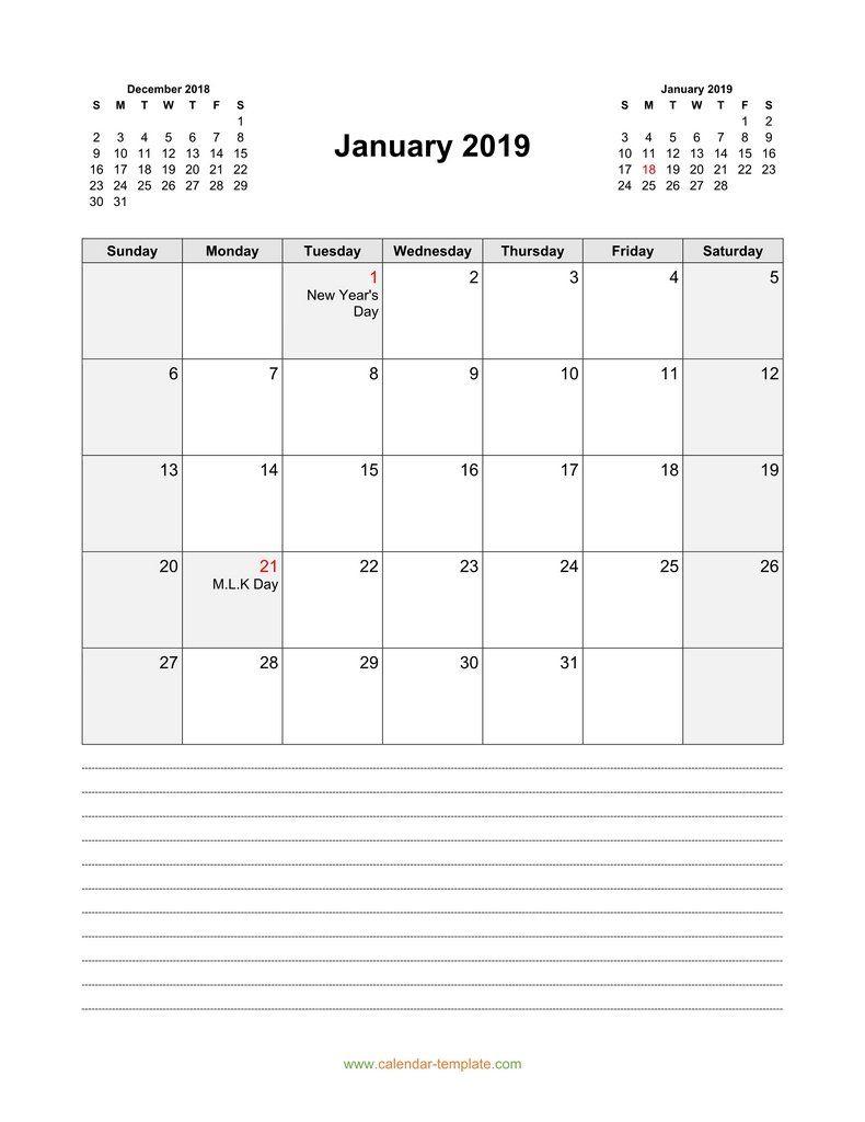 2019 January Calendar Vertical | January Calendar, Calendar in 30 Day Blank Calendar