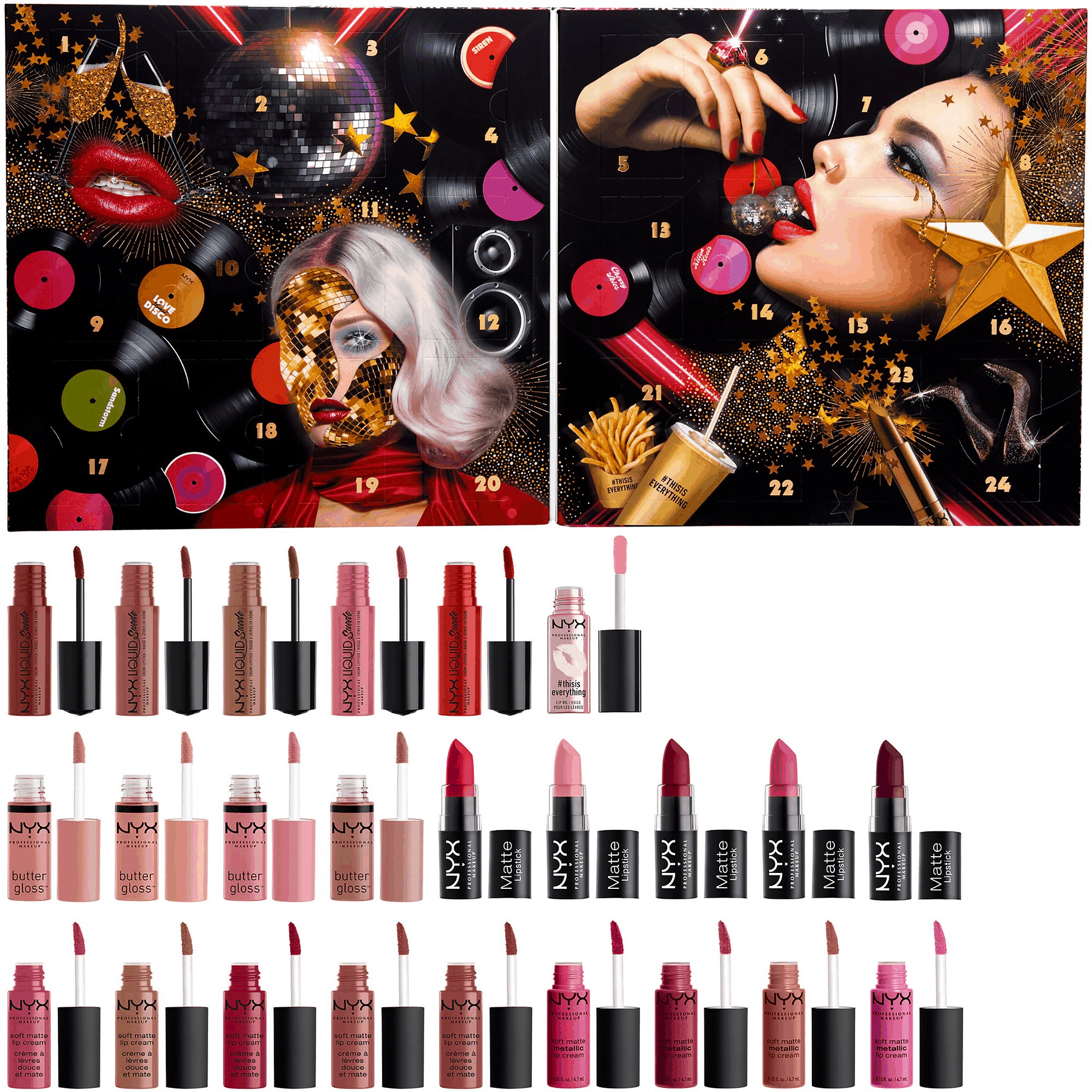 2019 Nyx Beauty Lip Advent Calendar Available Now + Full with Nyx Countdown 2020