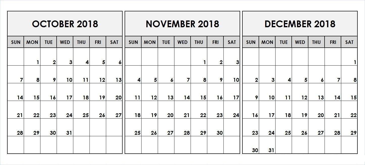 2019 Q4 Printable Calendar | November Calendar, September for Q4 Calendar 2020