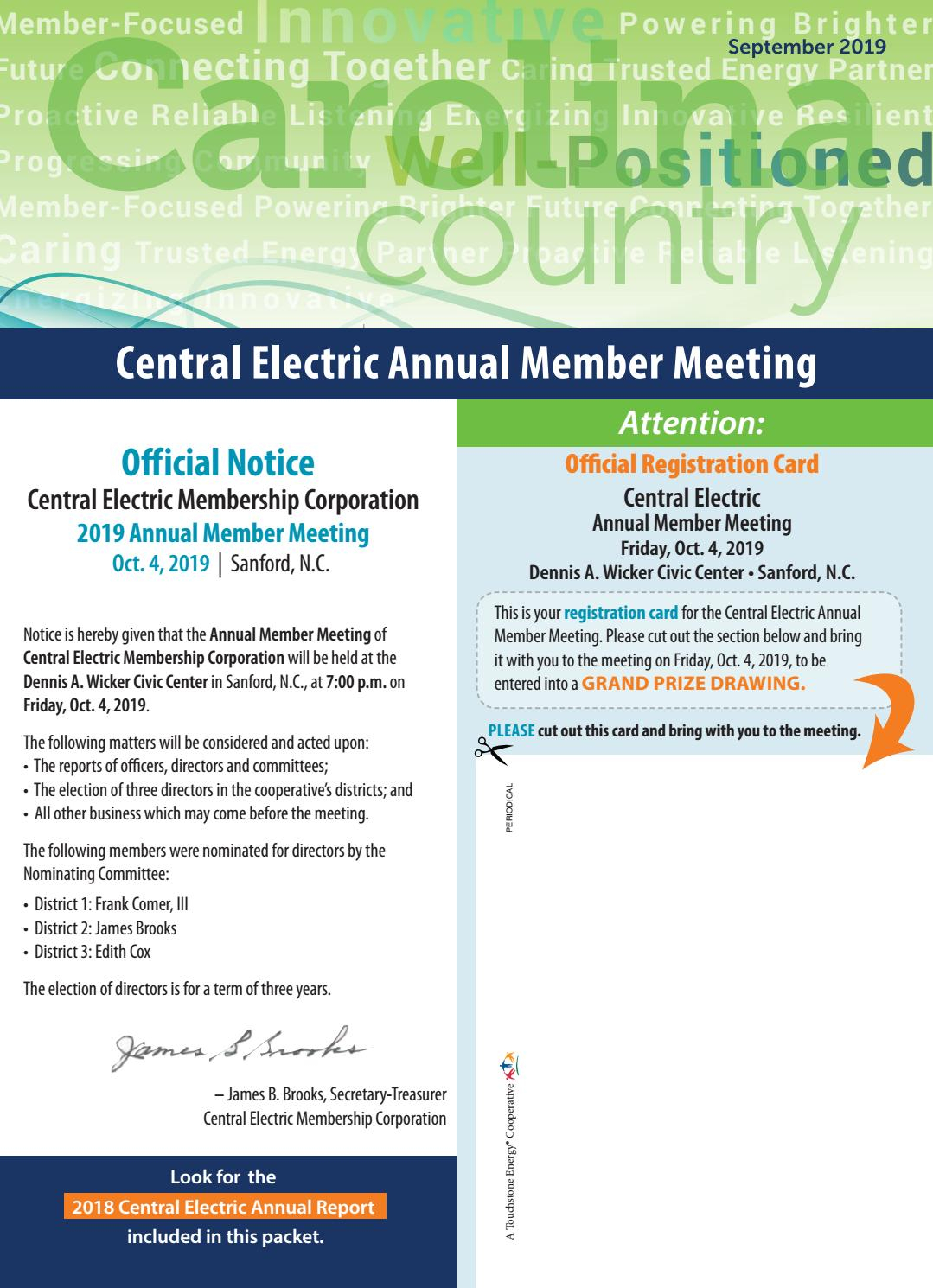 201909Cemc By Carolina Country  Issuu within Emerald Corporation A Calendar Year C Corporation