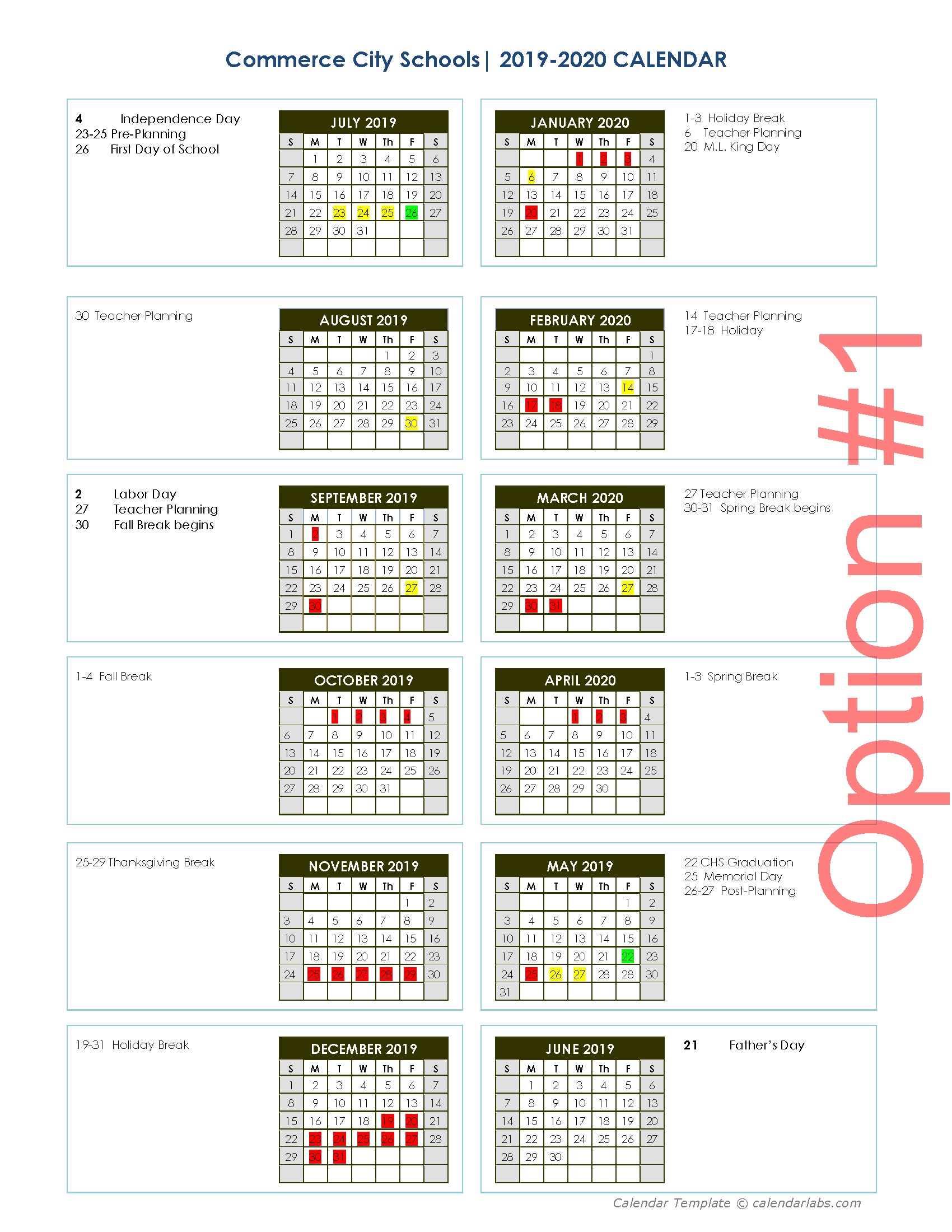 20192020 Calendar Survey  Commerce City Schools inside Gwinnett County School Calendar 2020-20