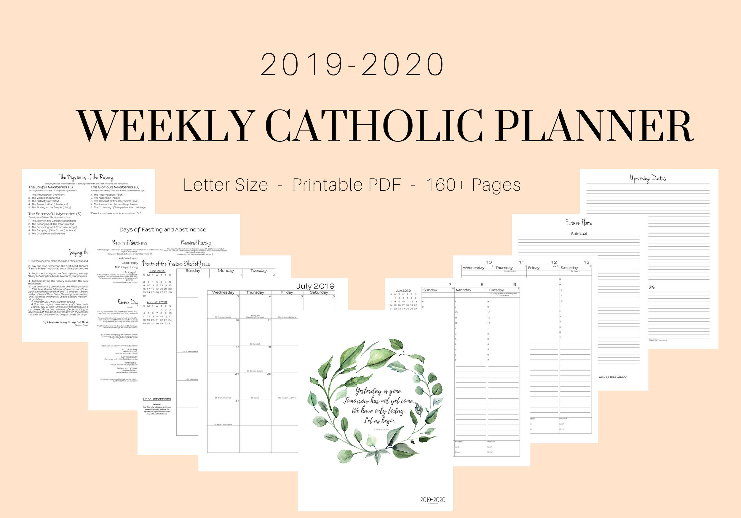 20192020 Catholic Weekly Planner intended for Catholic Liturgical Calendar 2020 With Daily Readings
