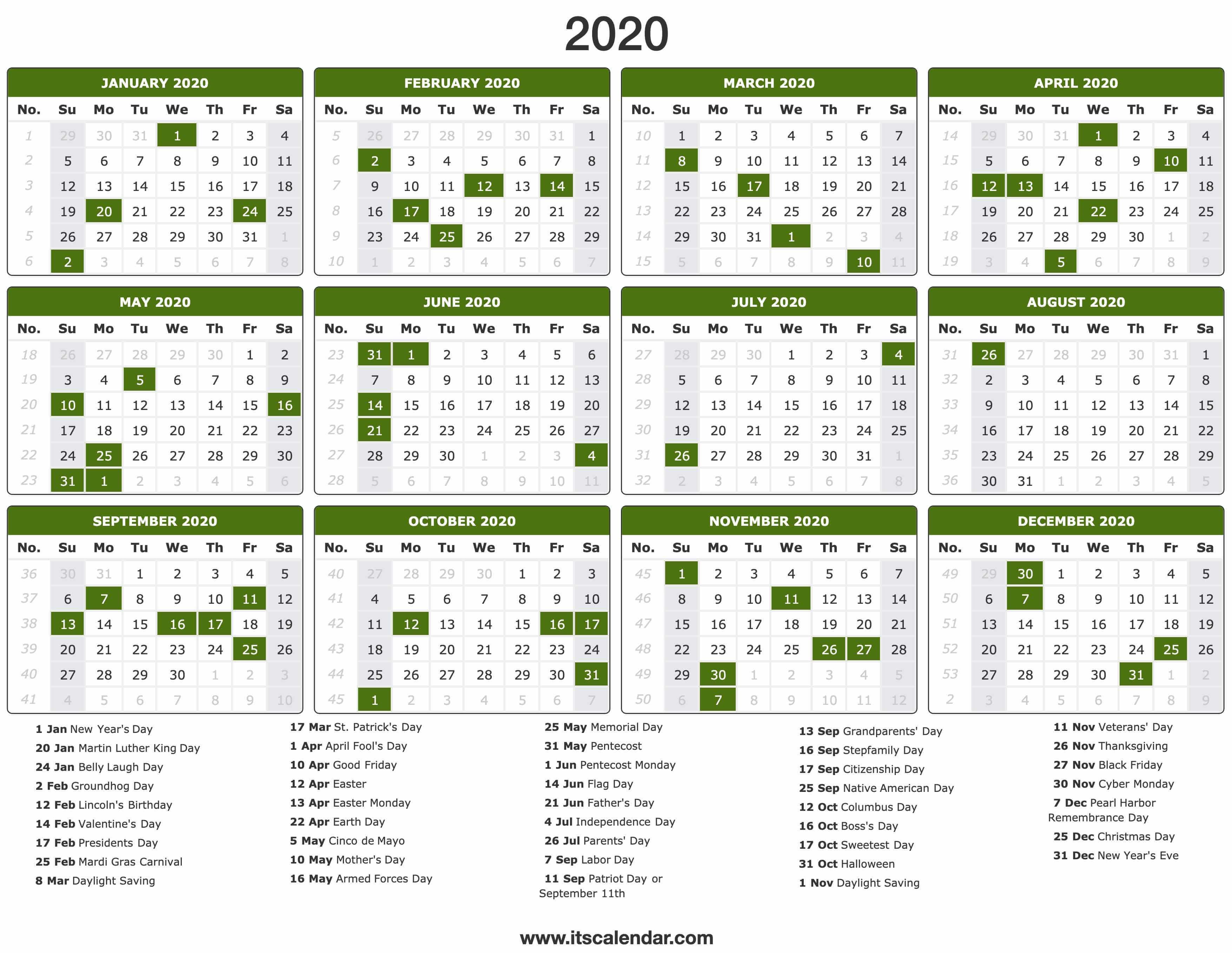 2020 2020 Calandar  Yatay.horizonconsulting.co throughout Sep Calendario 2020