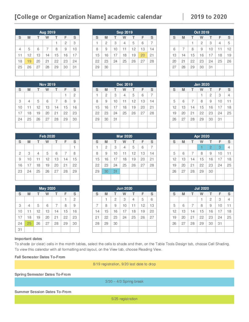 2020 Attendance Calendar Template  Yatay.horizonconsulting.co pertaining to Free Printable 2020 Attendance Calendar