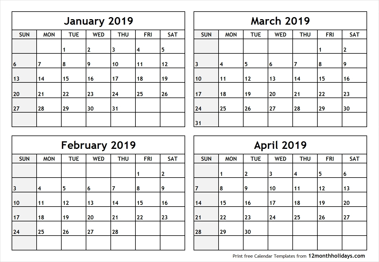 2020 Calendar 2 Months Per Page | Get Your Calendar Example regarding Calendar 4 Months Per Page