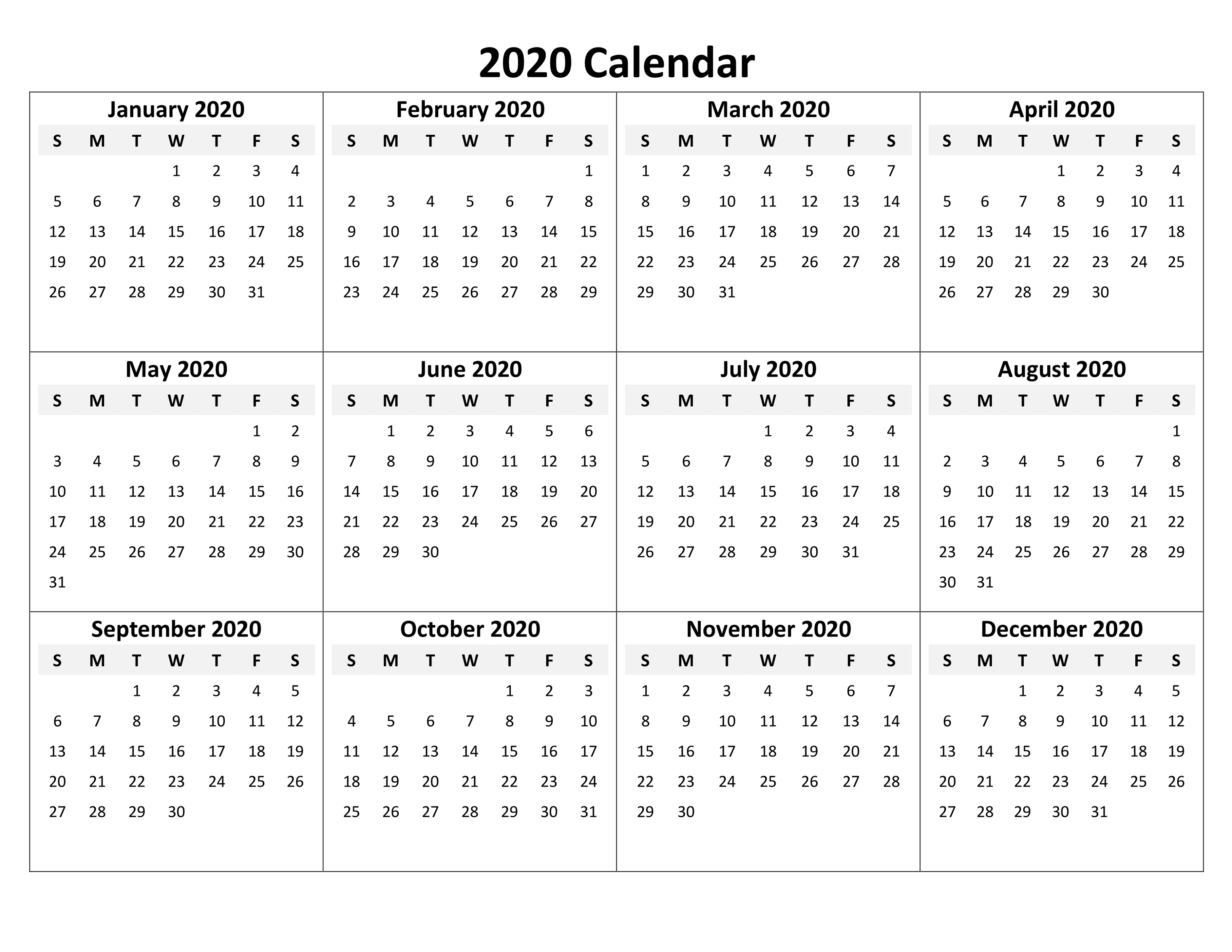 2020 Calendar Excel For Your Good Day For Desk | Calendar with regard to Calendar Excel Template 2020
