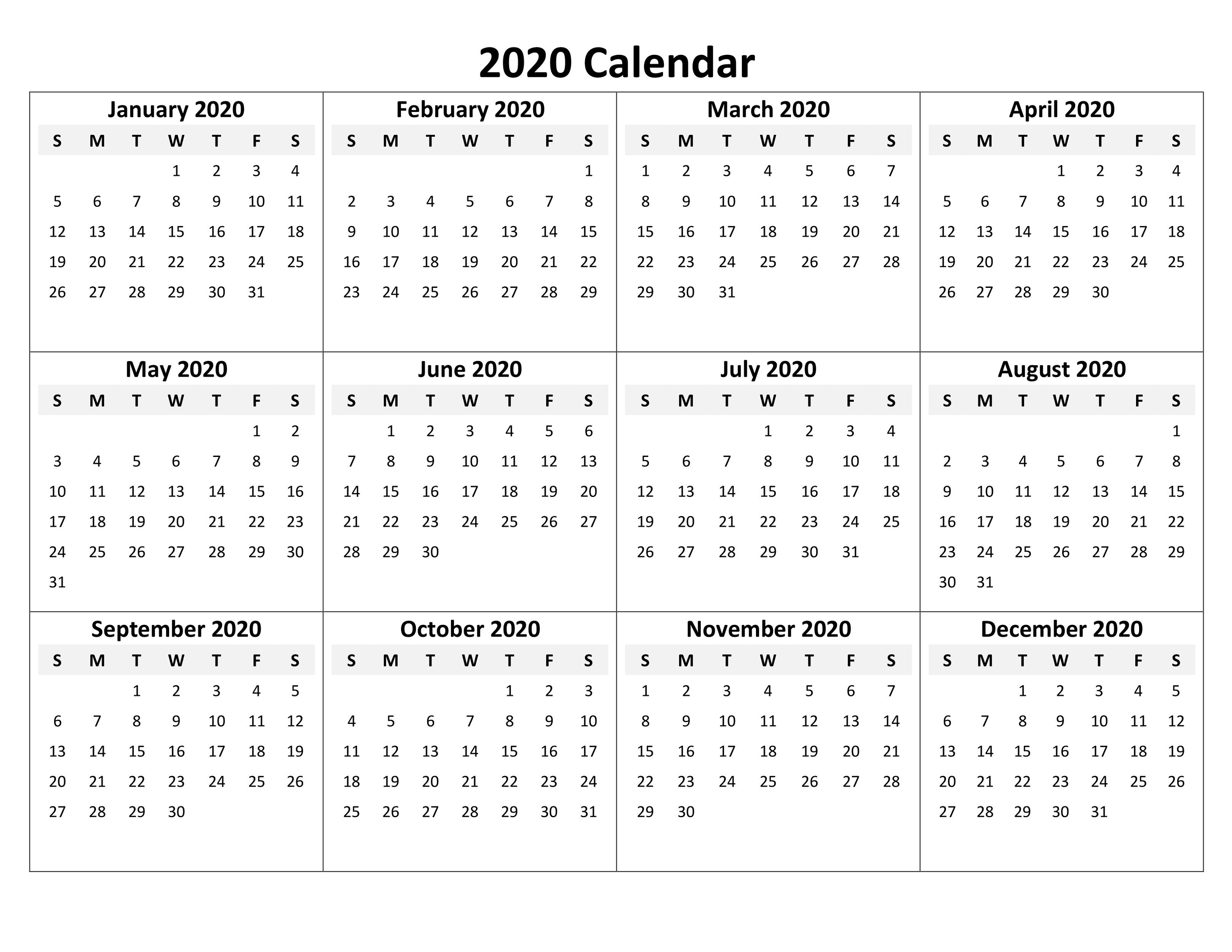 2020 Calendar Excel For Your Good Day For Desk | Calendar with regard to Calendar Excel Template 2020