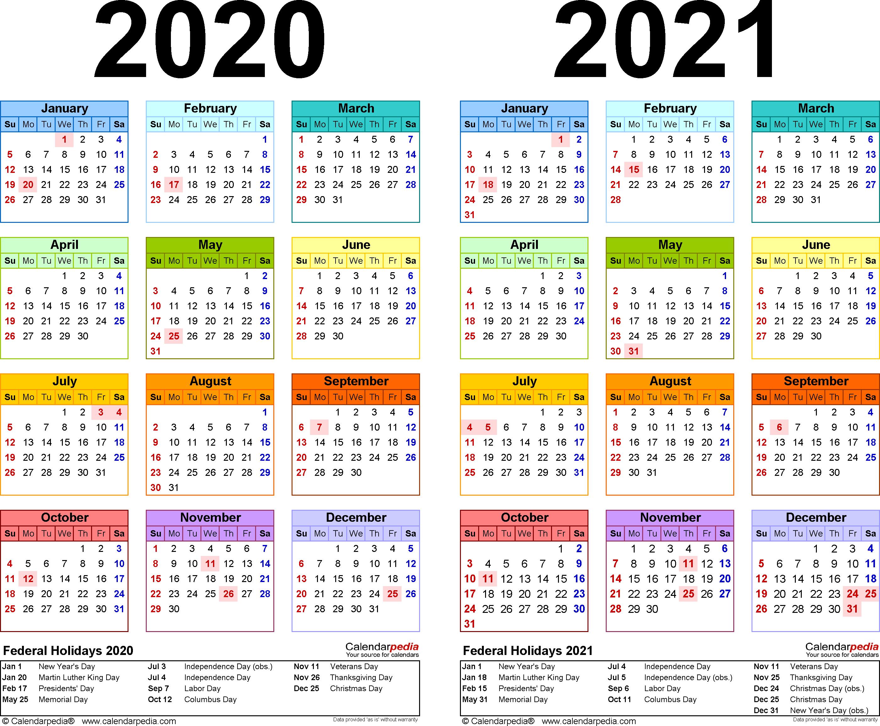 2020 Calendar Excel – Printable Year Calendar throughout Calendarpedia 2020 Excel