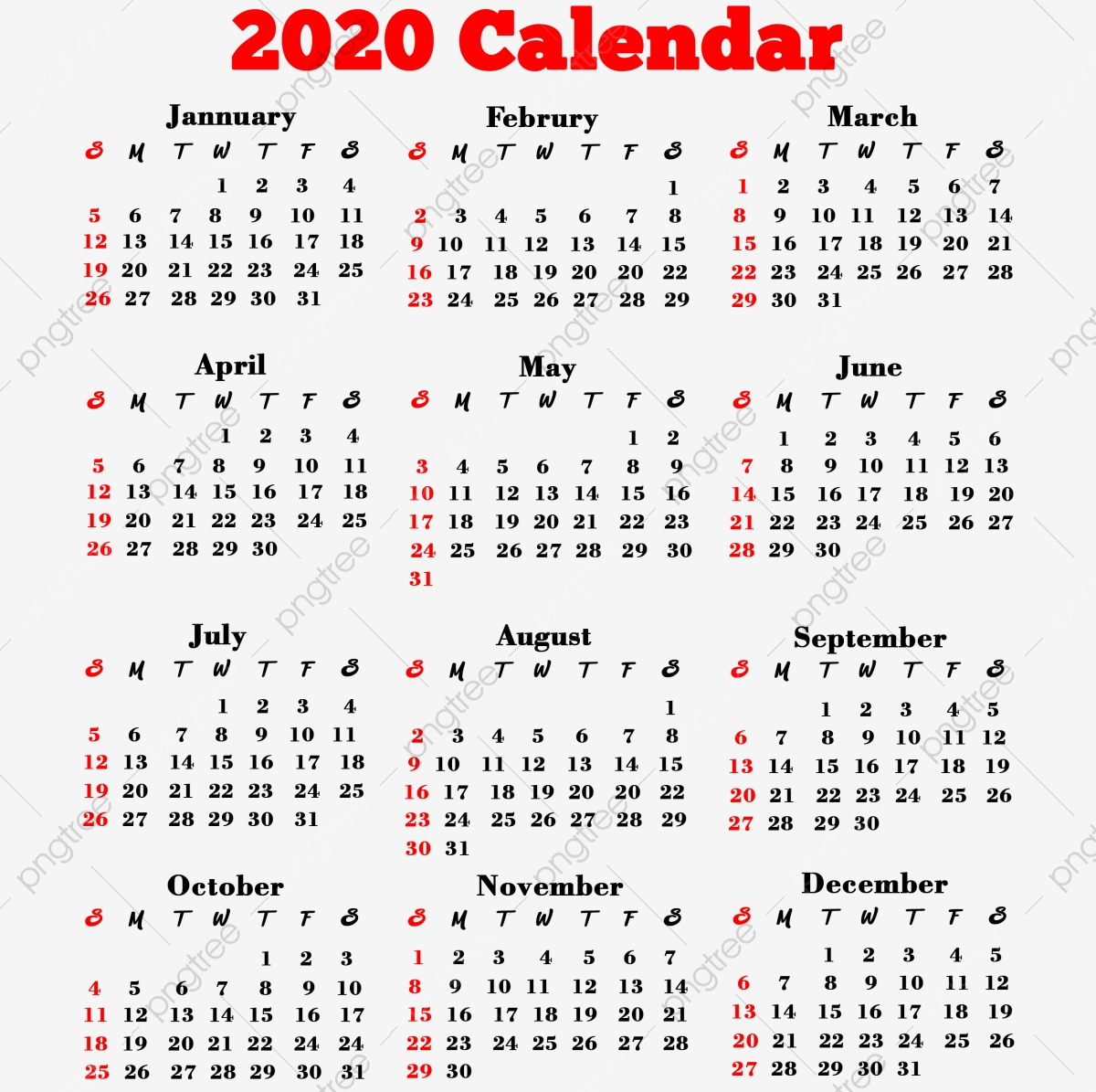 2020 Calendar Png, 2020 Calendar, 2020, Calendar Png pertaining to 2020 Calendar Psd File