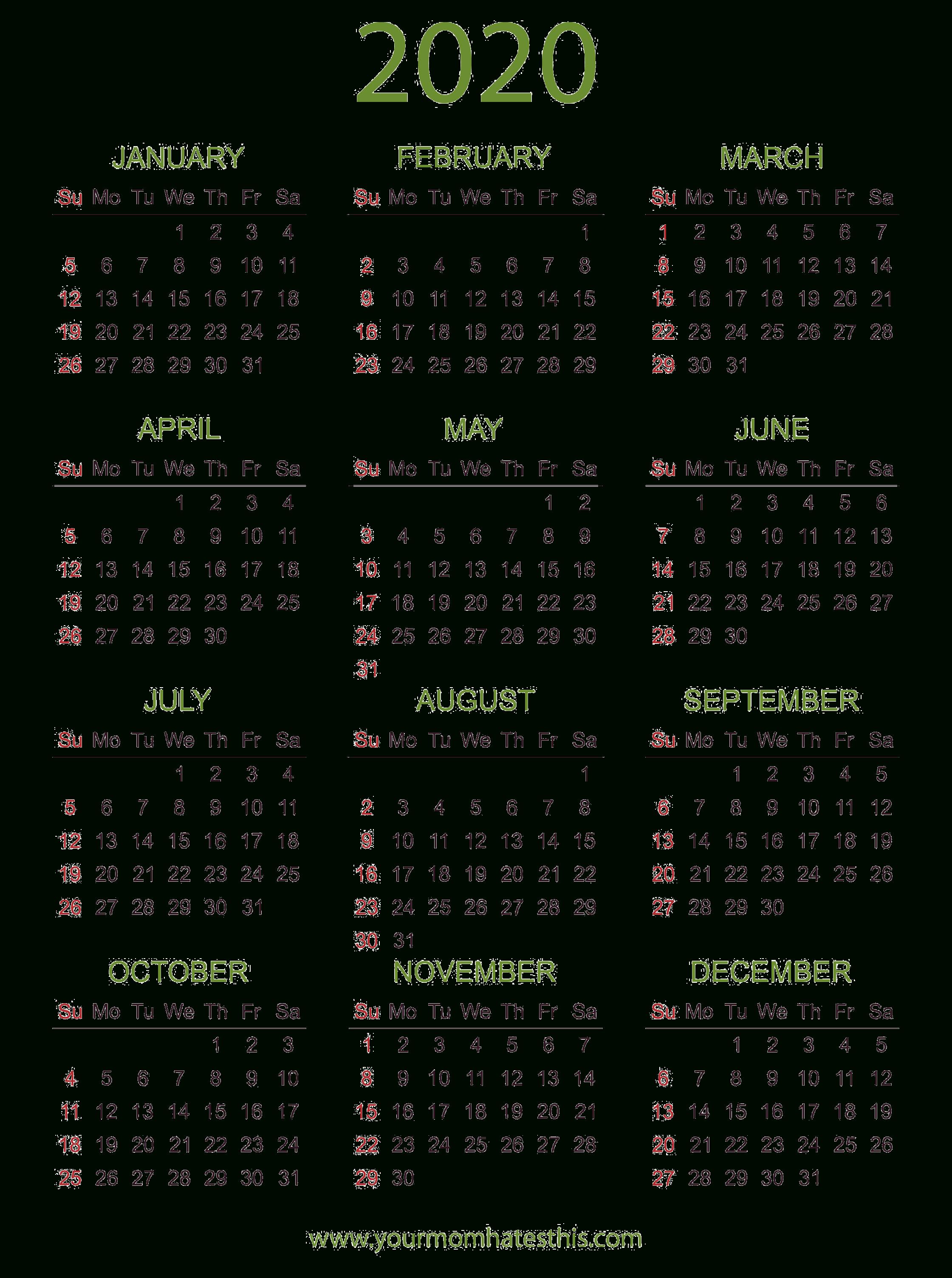 2020 Calendar Png Transparent Images | Png All within November Calendar 2020 Transparent