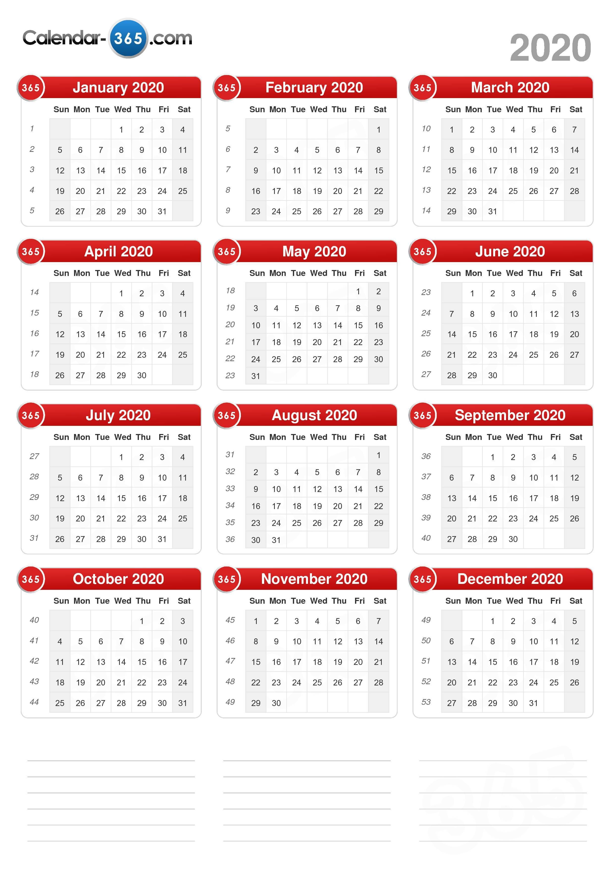 2020 Calendar regarding Sep Calendario 2020