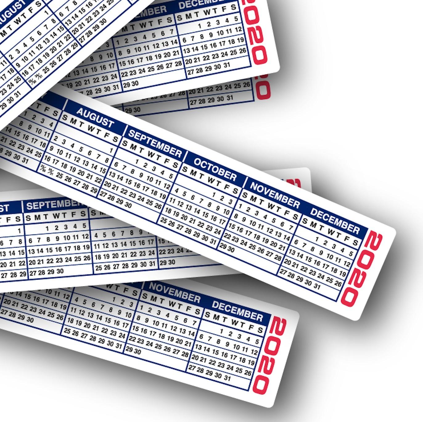 2020 Calendar Strips | Keyboard & Monitor Calendar Strips intended for Keyboard Calendar Strips 2020