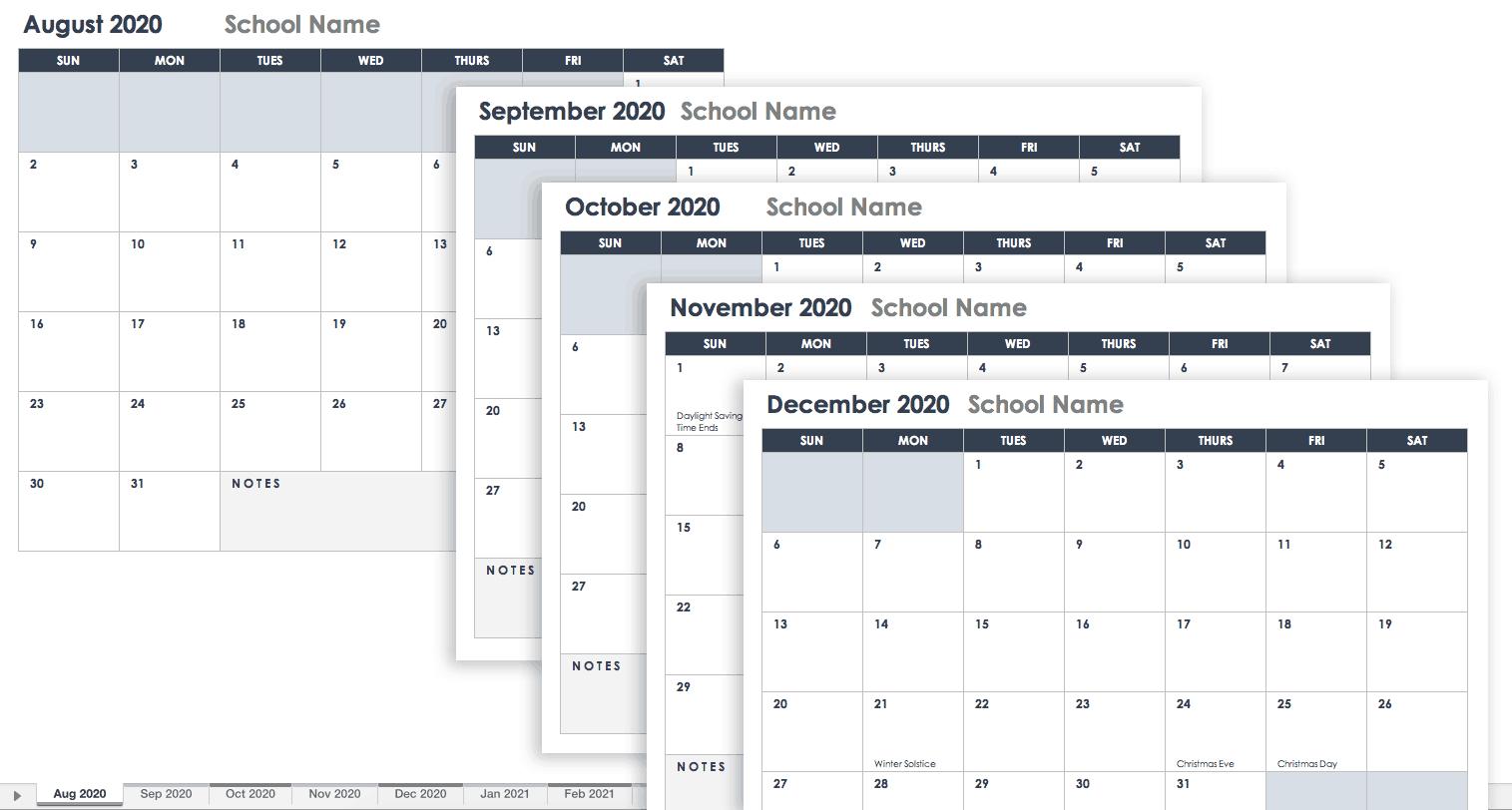 2020 Calendar Template Google Docs  Bolan.horizonconsulting.co with Google Calendar Printable Template