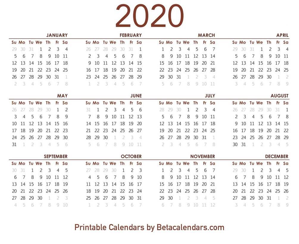 2020 Calendar throughout 2020 Calendar Qatar Printable