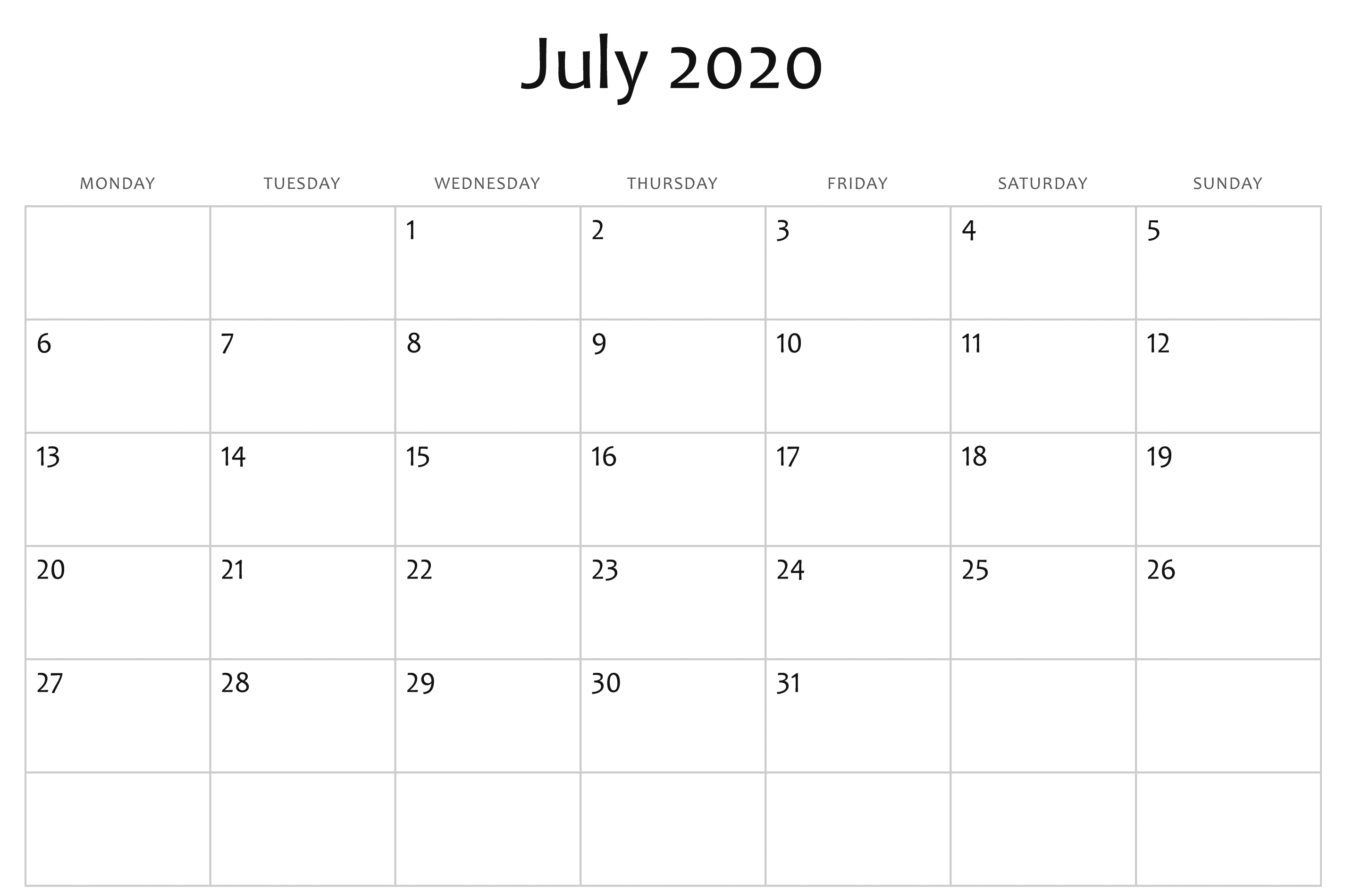 2020 Calendar Word Template  Bolan.horizonconsulting.co intended for Word Calendar Template 2020