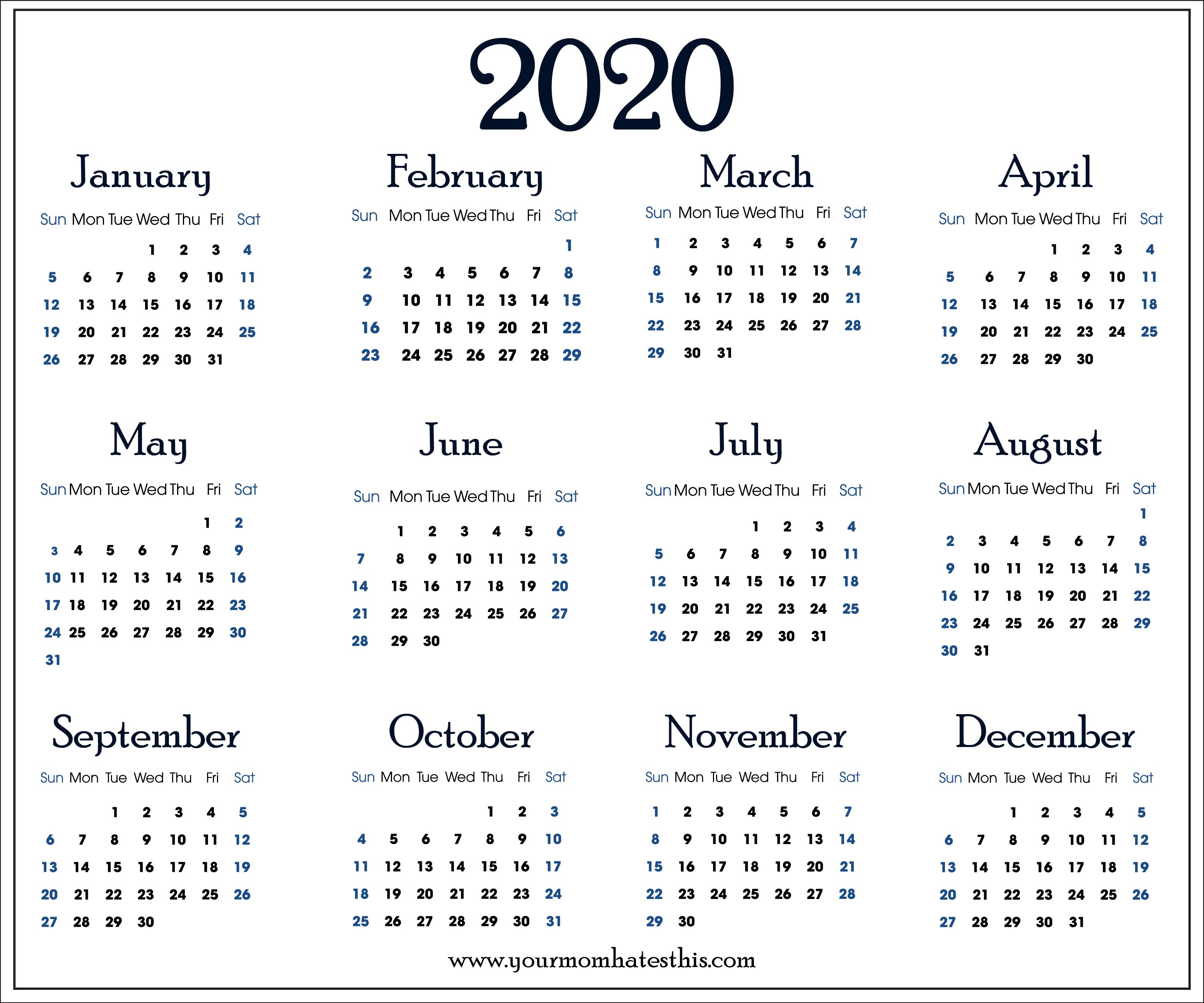 2020 Calendars In Pdf  Download Templates Of Calendar 2020 with regard to November Calendar 2020 Transparent