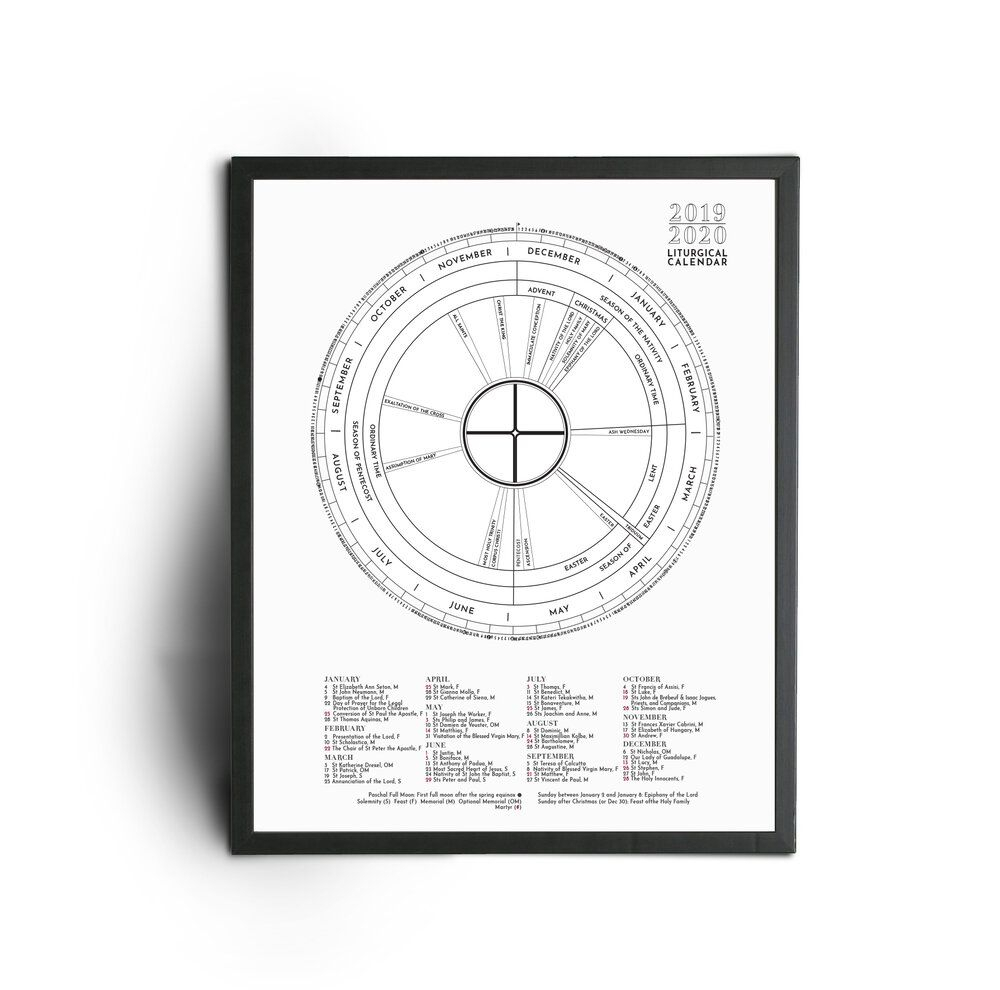 2020 Colortheyear Liturgical Calendar | Calendar, 365 Day intended for Liturgical Calendar Poster