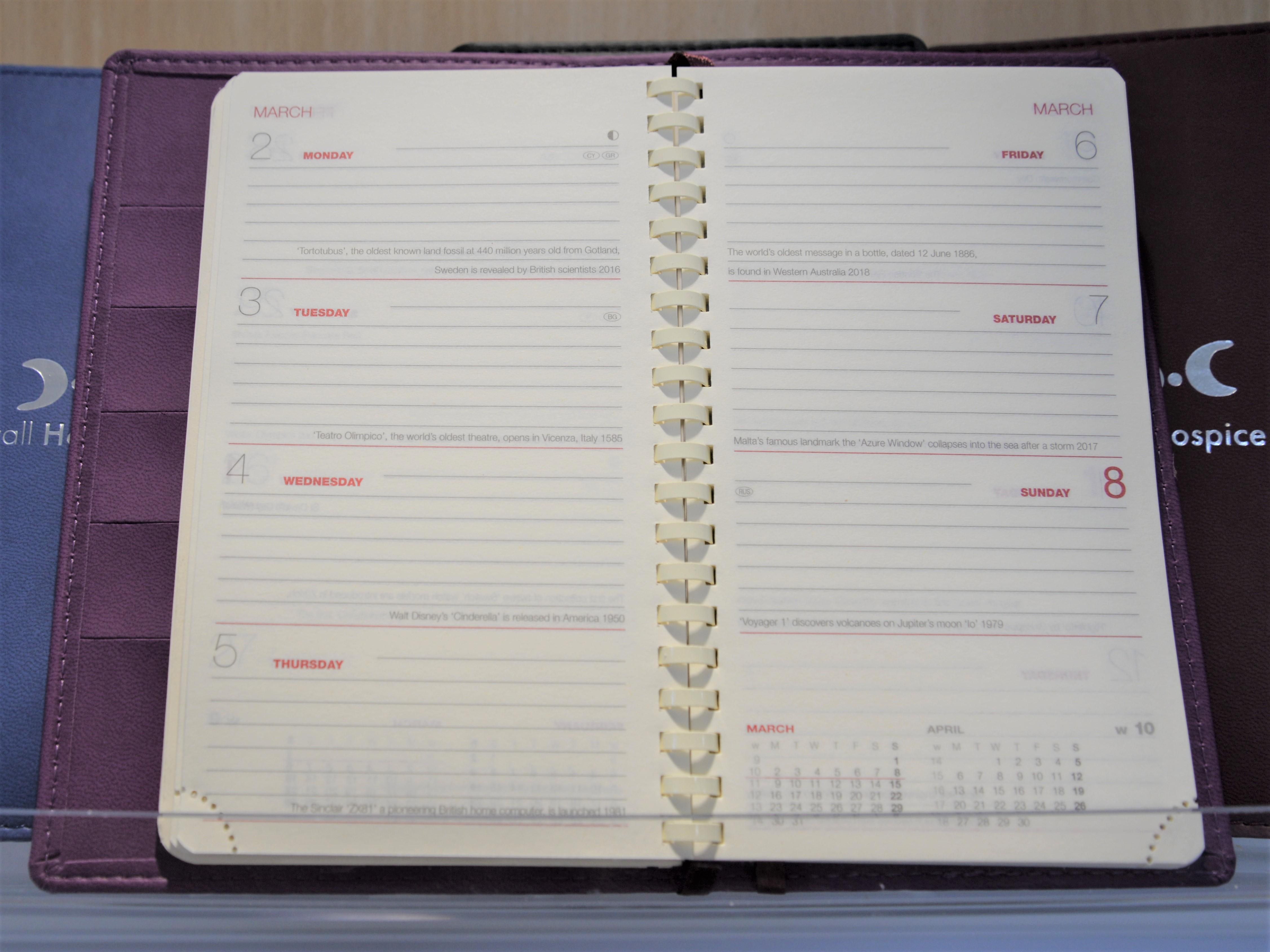 2020 Diary Inside Week To View inside Hospice Week 2020