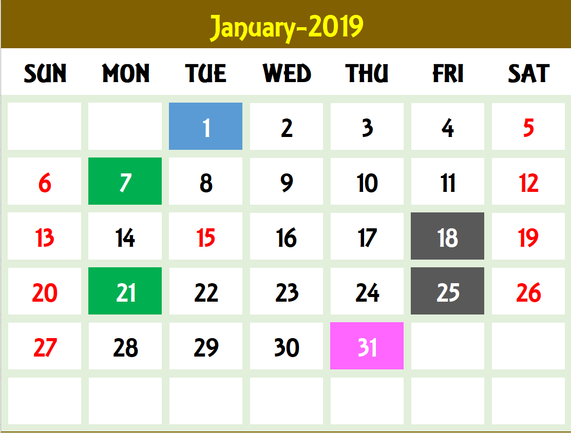 2020 Excel Calendar Template  Excel Calendar 2020 Or Any Year in Creating Recurring Events In Excel Calendar