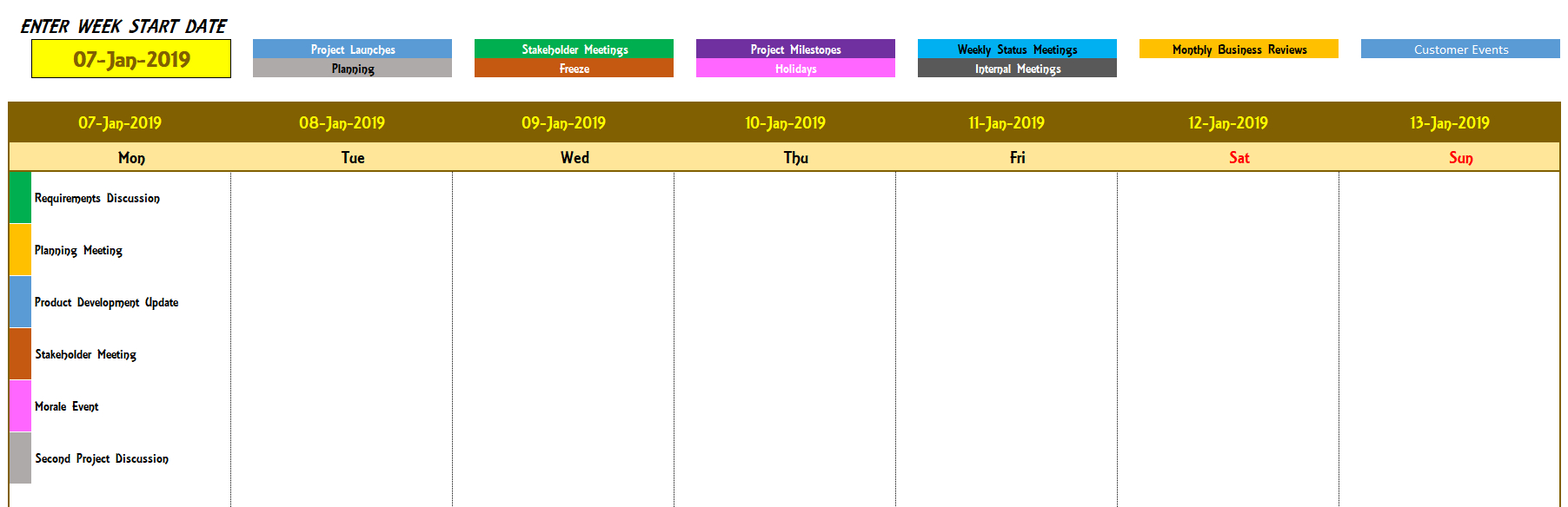 2020 Excel Calendar Template  Excel Calendar 2020 Or Any Year regarding Creating Recurring Events In Excel Calendar