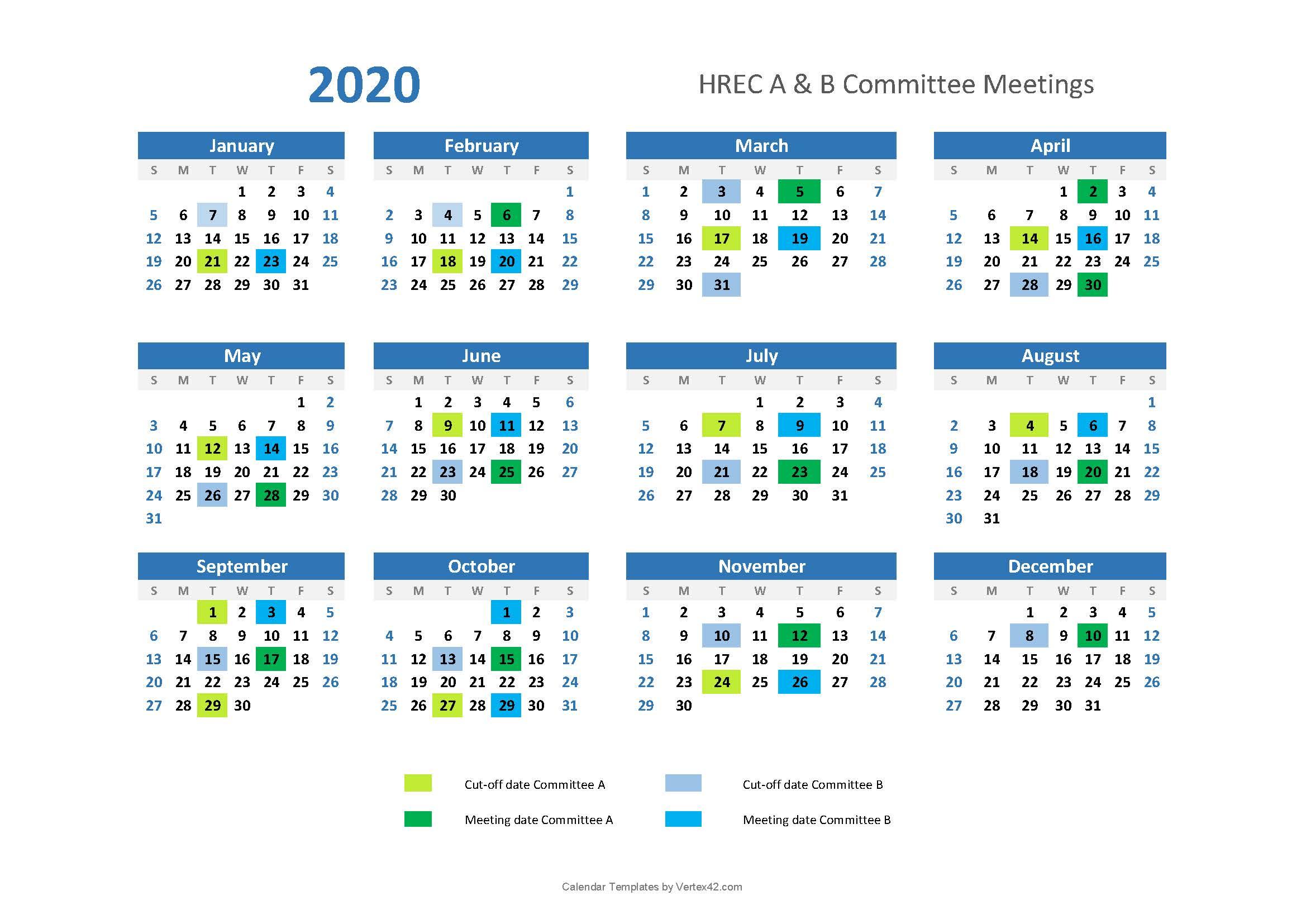 2020 Hrec Calendar  Research Innovation  Integrity And for Calendar 2020 Qld