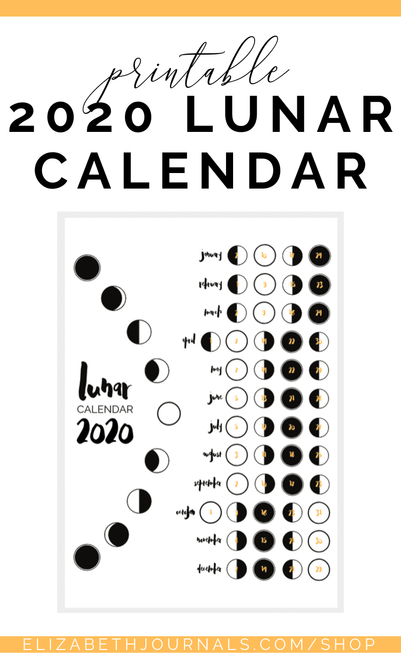 2020 Lunar Calendar Bullet Journal Printable | Bullet inside Om Journal Lunar Calendar