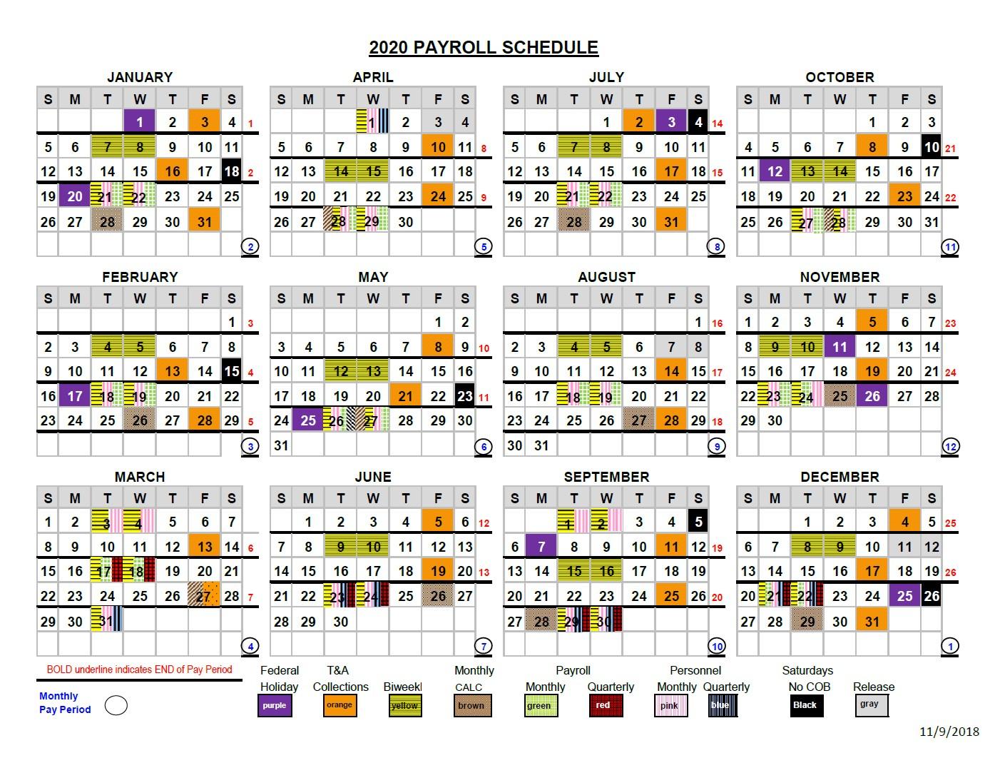 2020 Pay Period Calendar with regard to Uc Berkeley Payroll Calendar 2020