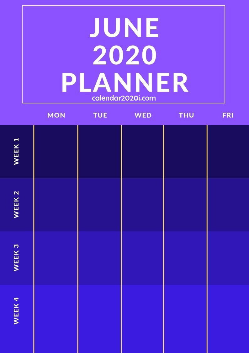 2020 Planners Monthly Printable Template inside Wincalendar July 2020