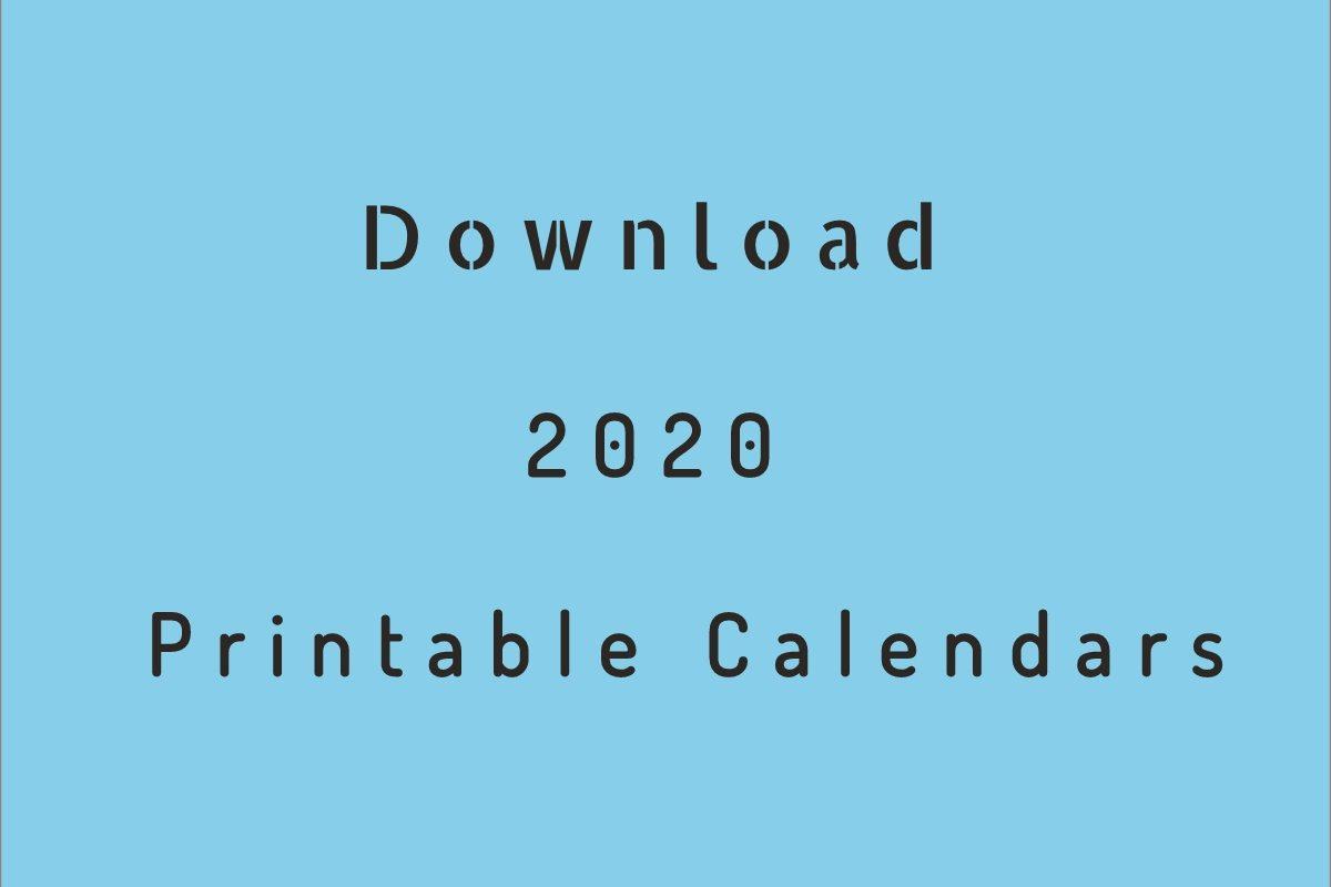 2020 Printable Calendar  Download Free Blank Templates for Free Printable 2020 Employee Attendance Calendar