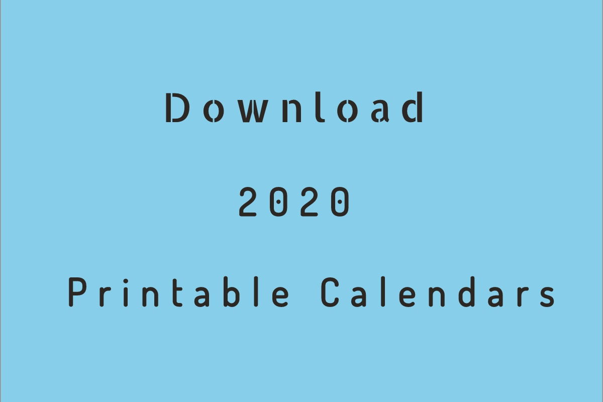 2020 Printable Calendar  Download Free Blank Templates with regard to Free Printable 2020 Attendance Calendar
