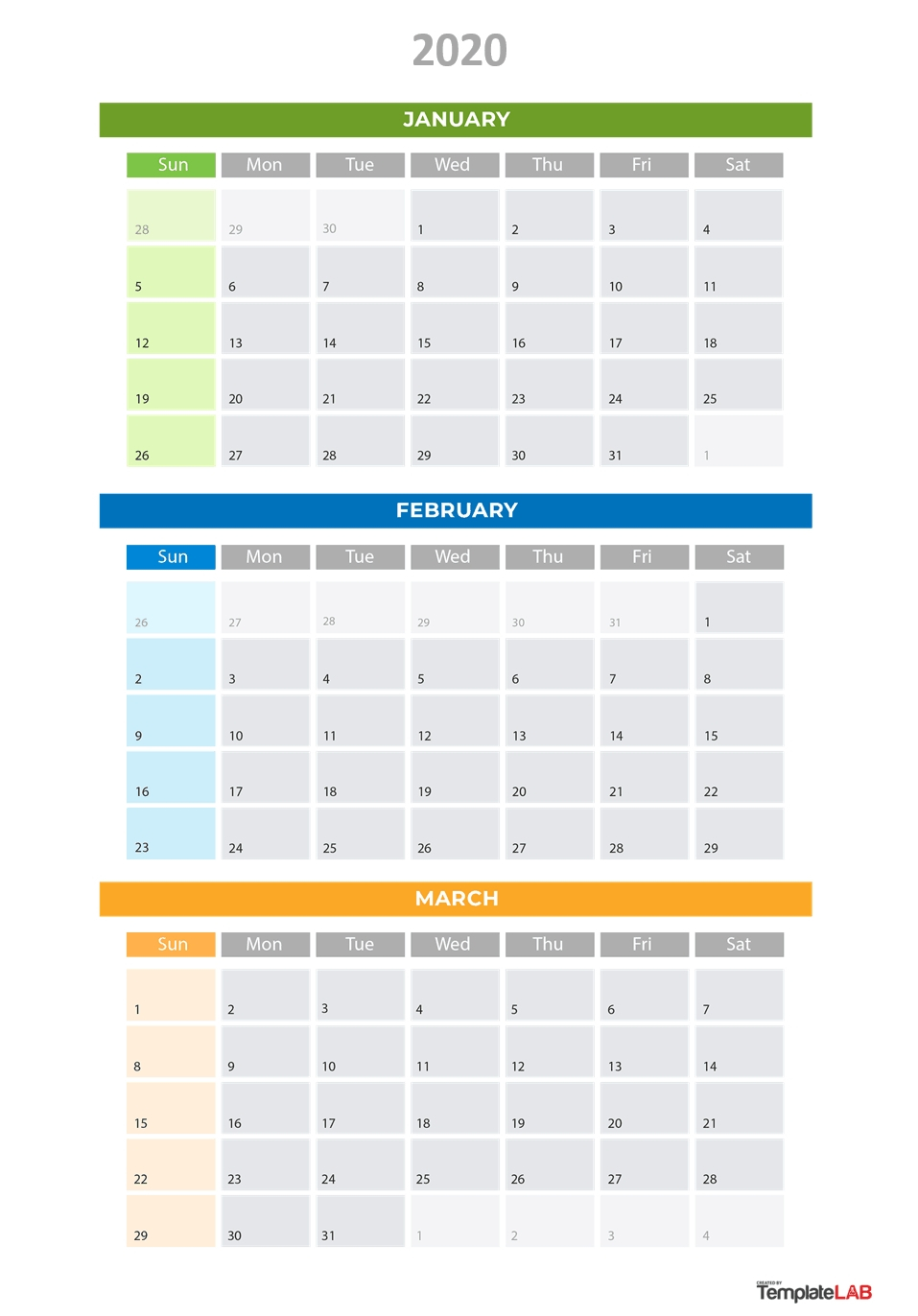 2020 Printable Calendars [Monthly, With Holidays, Yearly] ᐅ for 3 Month Printable Calendar 2020