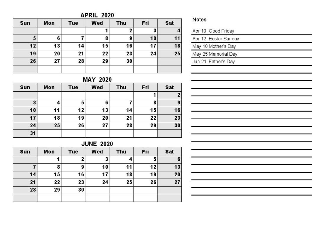 2020 Quarterly Calendar  Yatay.horizonconsulting.co intended for Quarterly Calendar 2020 Excel