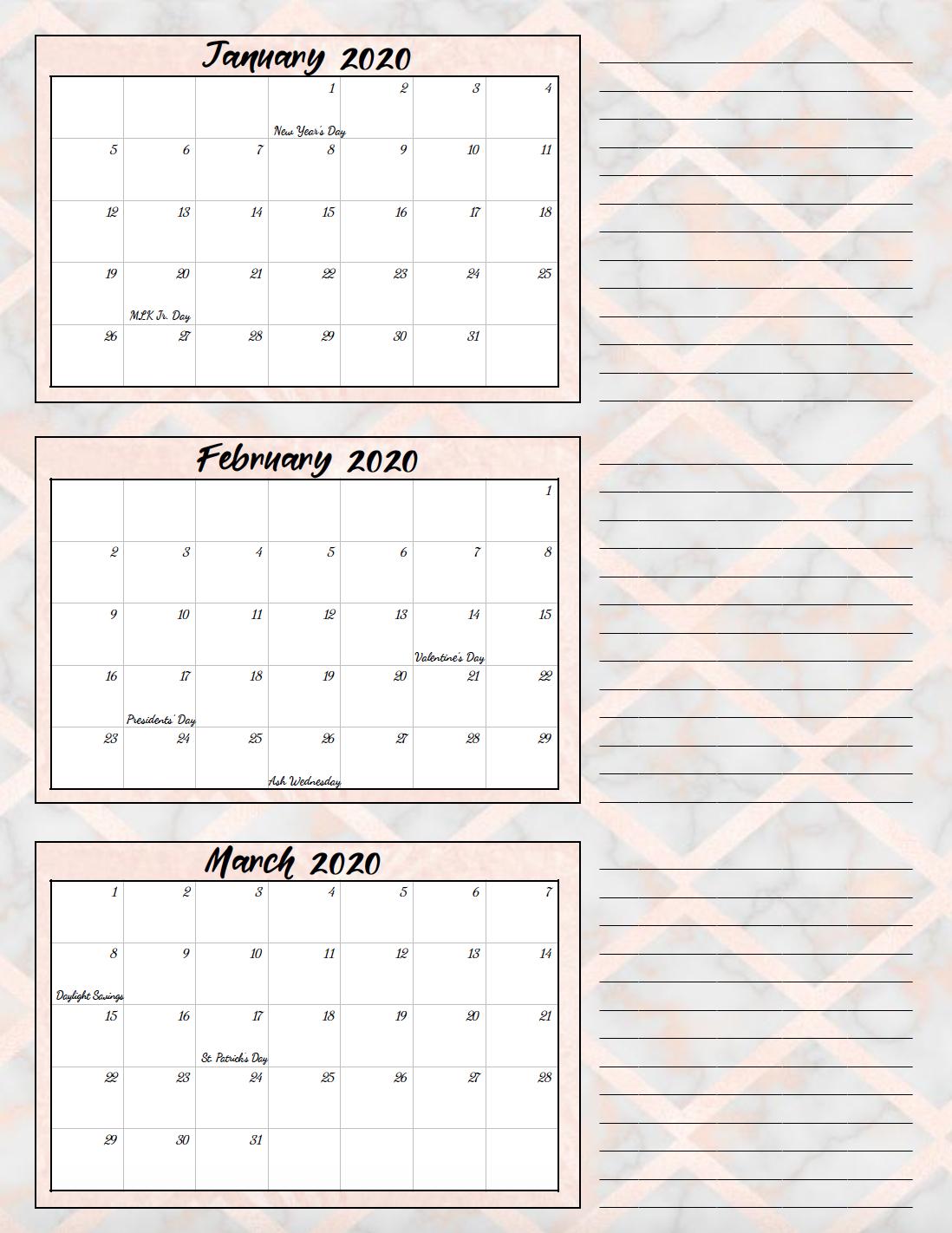 2020 Quarters Calendar  Yatay.horizonconsulting.co in Excel Quarterly Calendar