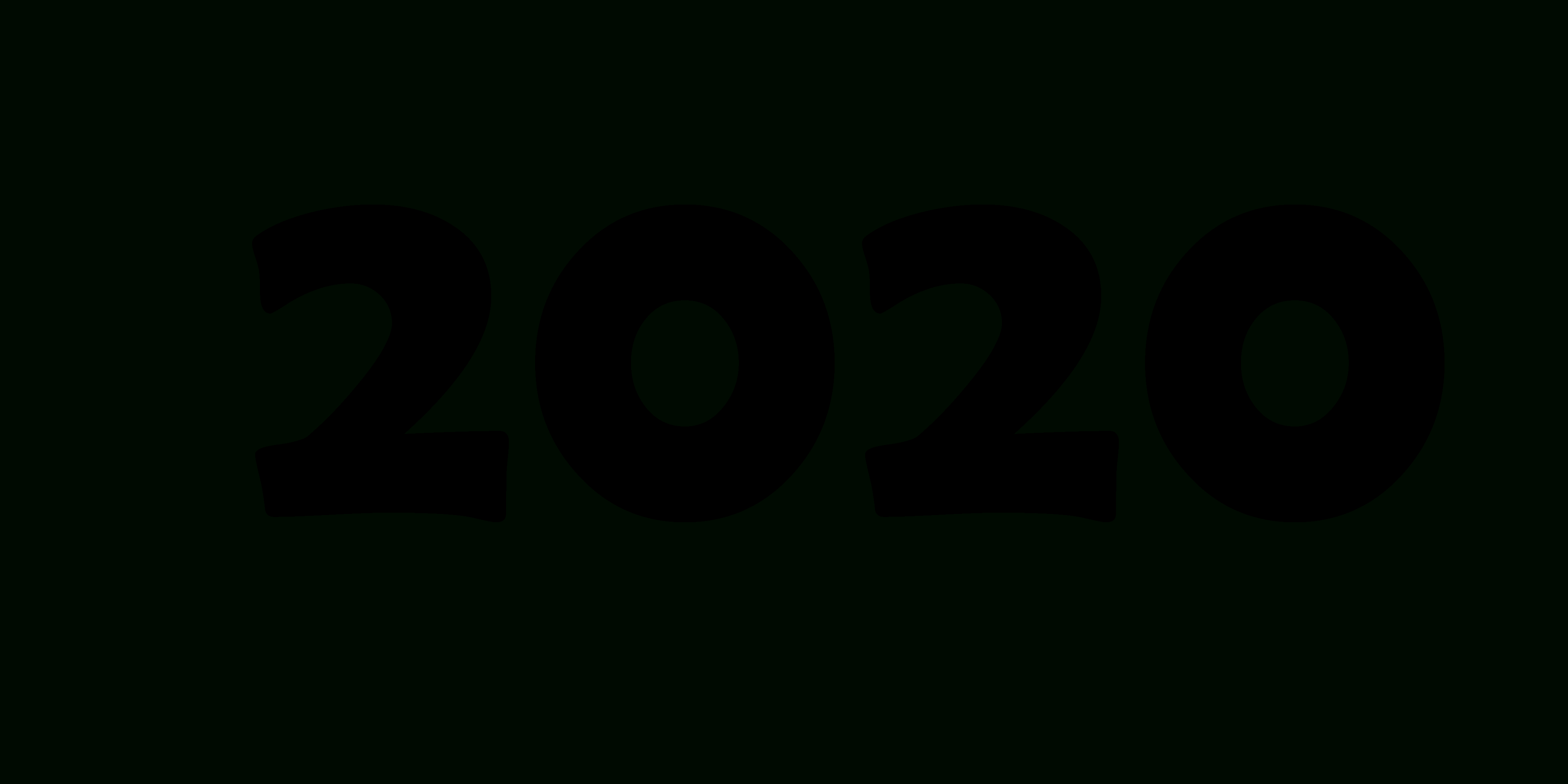 2020 Year Png for 2020 Transparent Background