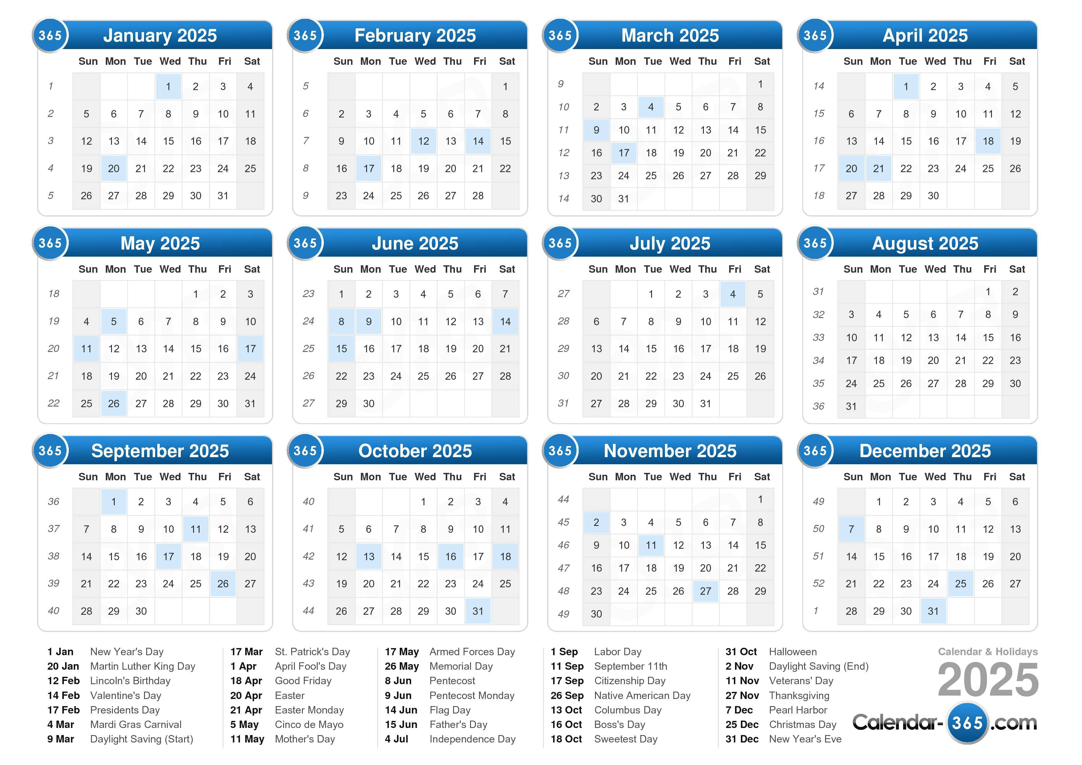 2025 Calendar with regard to Broadcast Calendar 2021