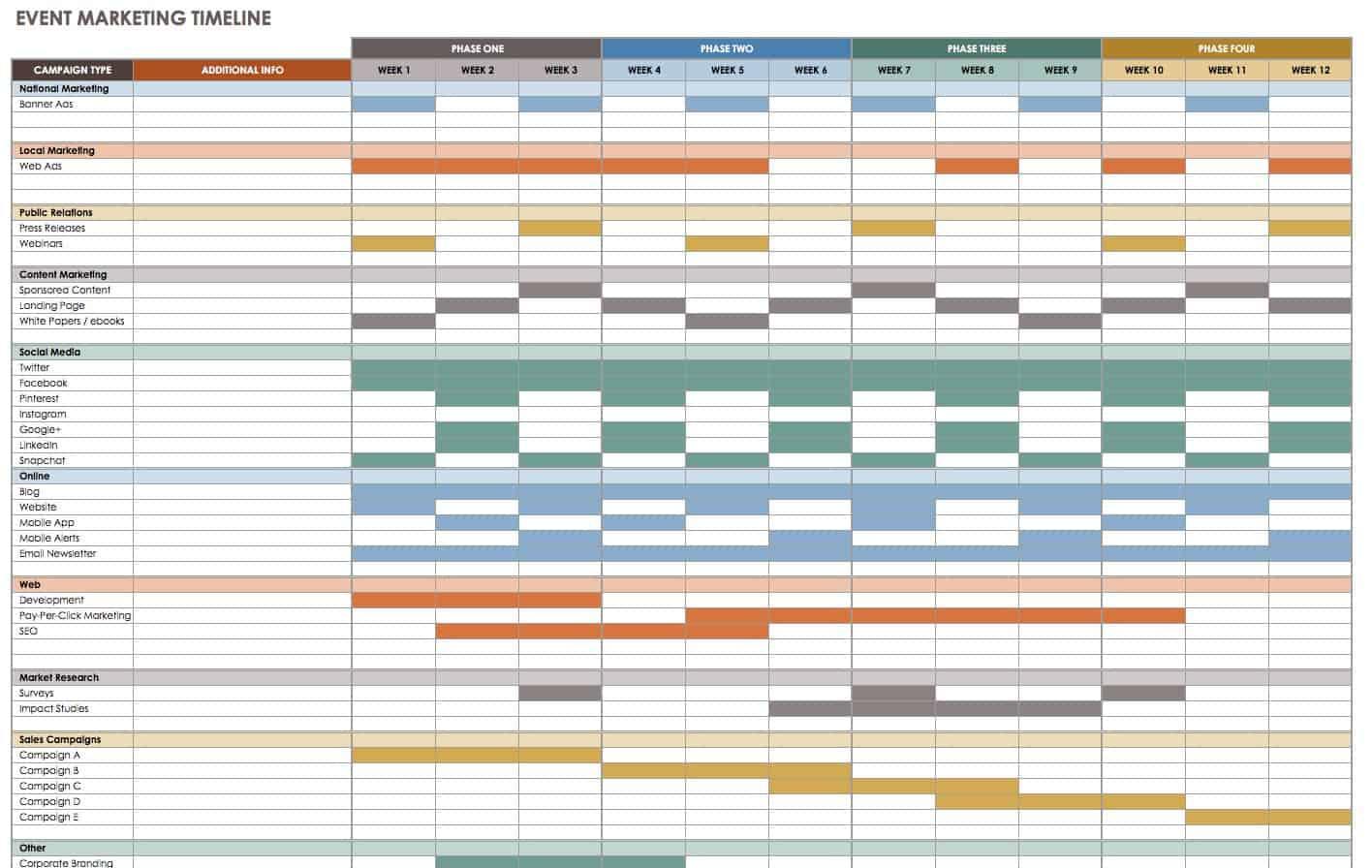 21 Free Event Planning Templates | Smartsheet inside Event Planning Template Excel