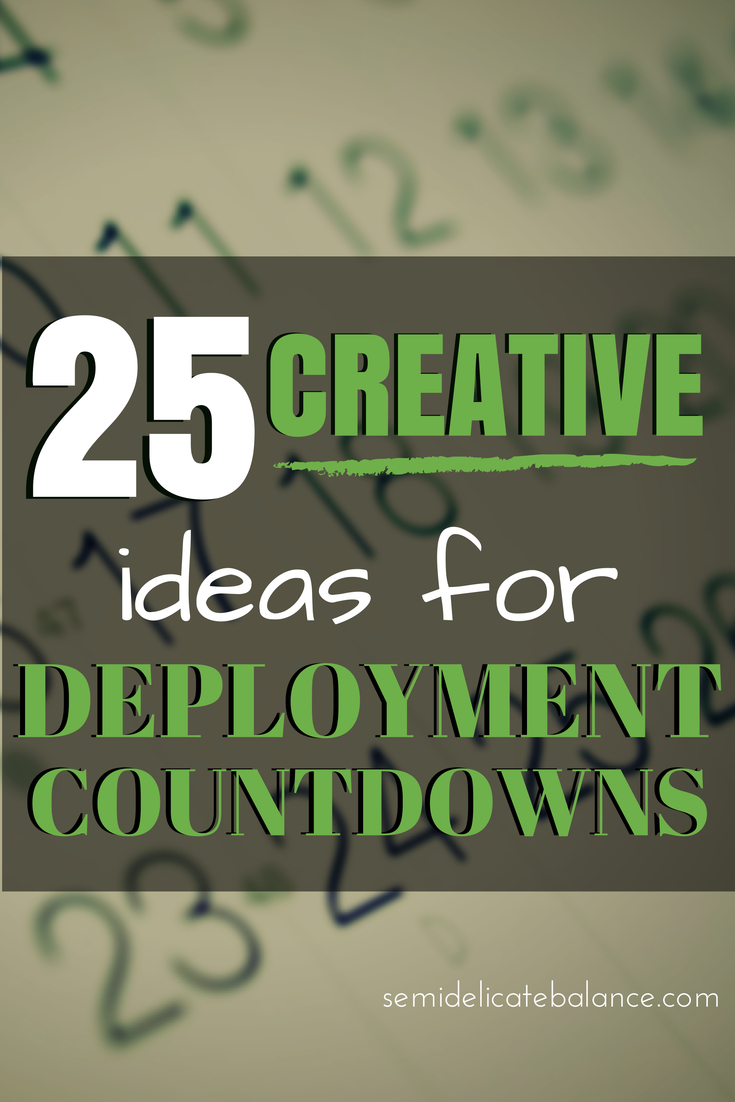 25 Creative Ideas For Deployment Countdowns intended for Deployment Countdown Calendar