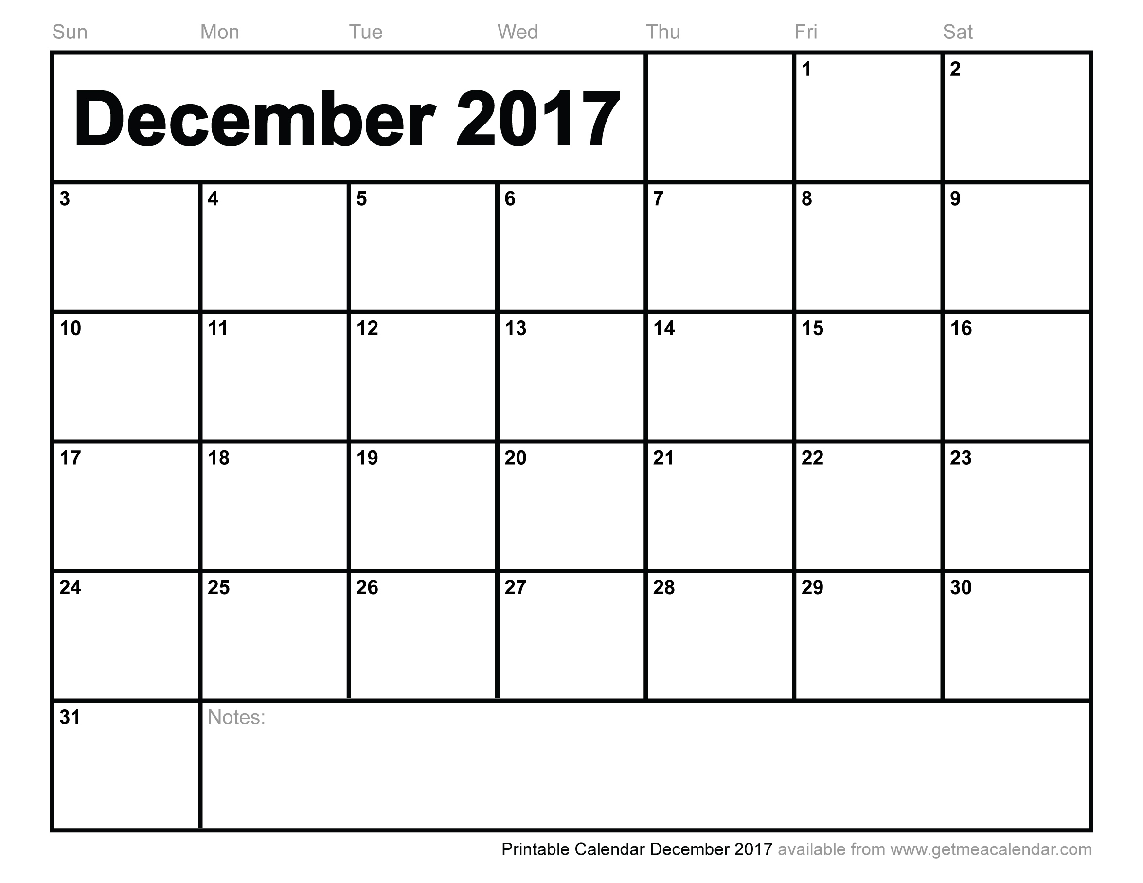 27 Images Of Free Printable January 2017 Calendar Template inside December 2017 Calendar Printable