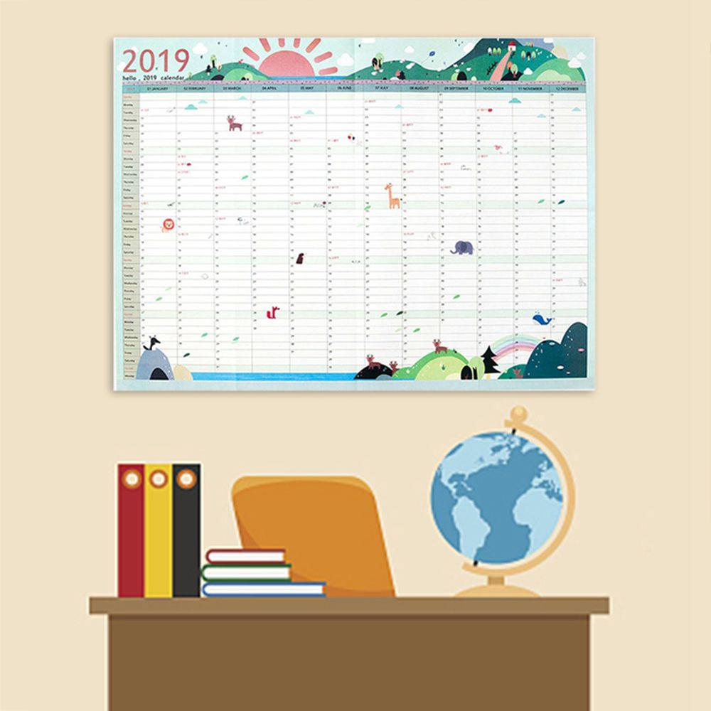 2Pcs Wall Calendars 365 Day Countdown Learning Schedule intended for 365 Countdown Calendar