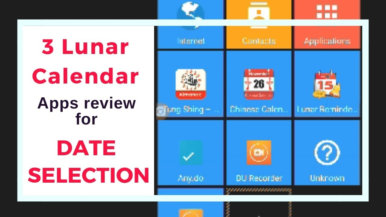 3 Lunar Calendar Apps Review For Date Selection  Android within What Is The Lunar Calendar Date Today