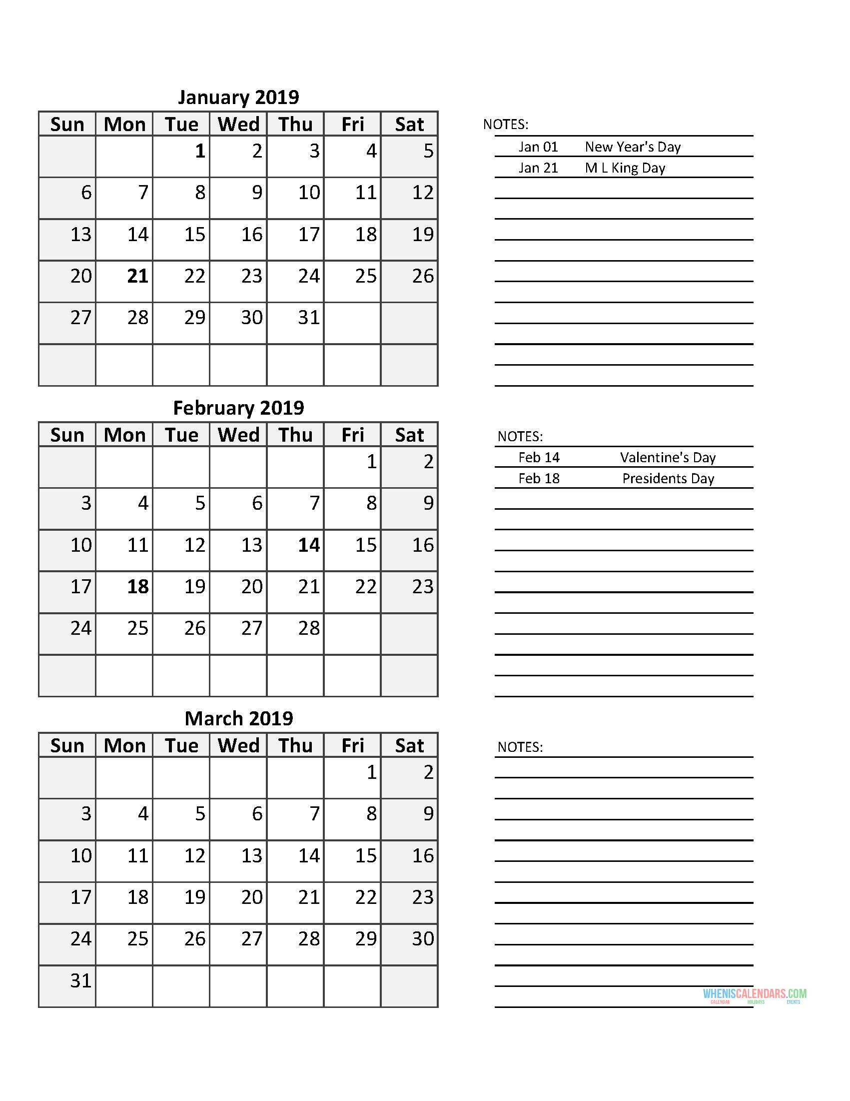 3 Month Calendar 2019 Quarterly Calendar Template With Us regarding 2020 Quarterly Calendar Template Excel