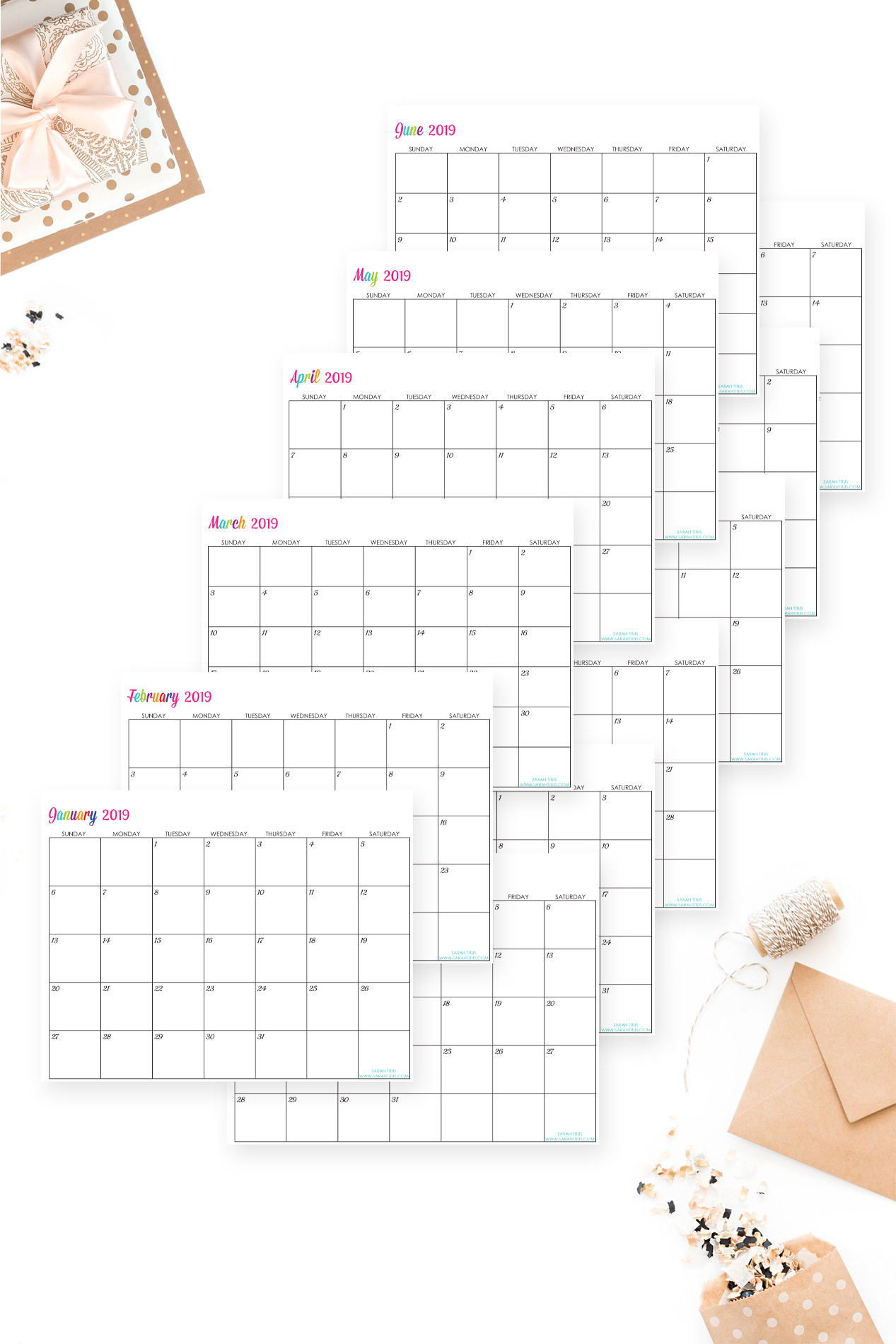 30 Customizable Calendar Template 2019 | Andaluzseattle throughout Sarah Titus Calendar