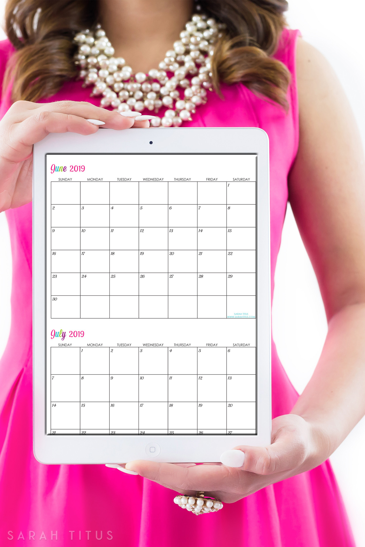 30 Customizable Calendar Template 2019 | Andaluzseattle with Sarah Titus Calendar